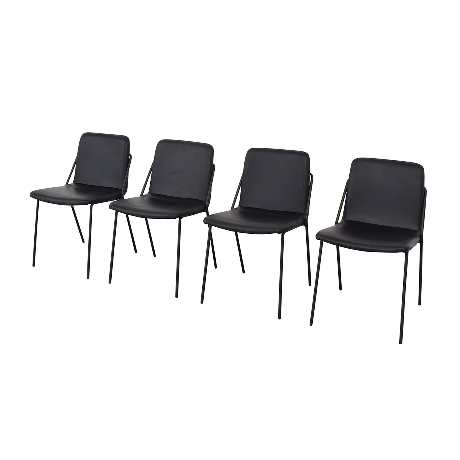 m.a.d. m.a.d. Black Sling Upholstered Chairs second hand