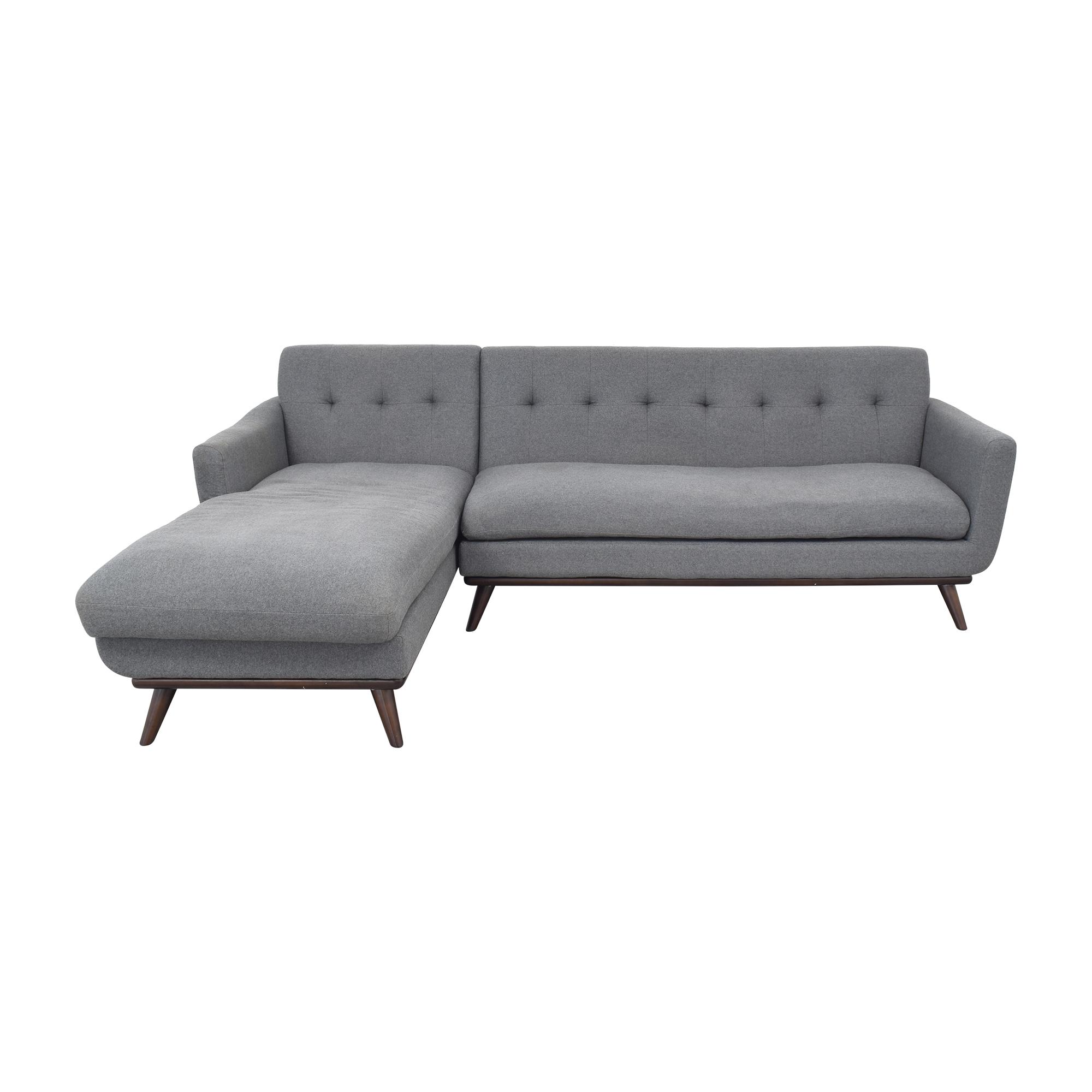 Kardiel Kardiel Jackie Modern Right Facing Sectional Sofa dimensions