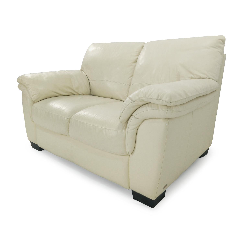 30 off natuzzi natuzzi italsofa white loveseat sofas