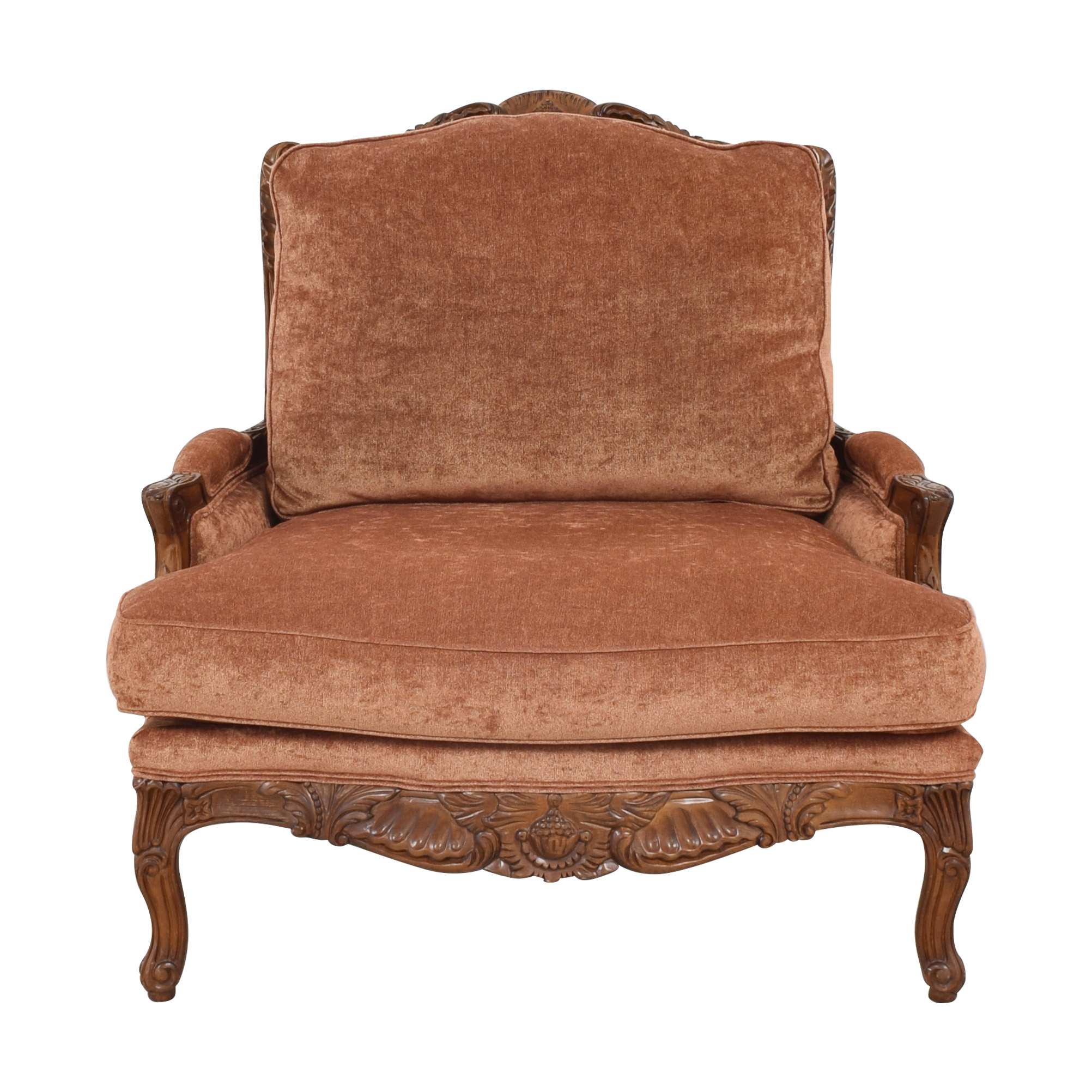 Zacksons Fine Furniture Zaksons Carved Lounge Chair ma