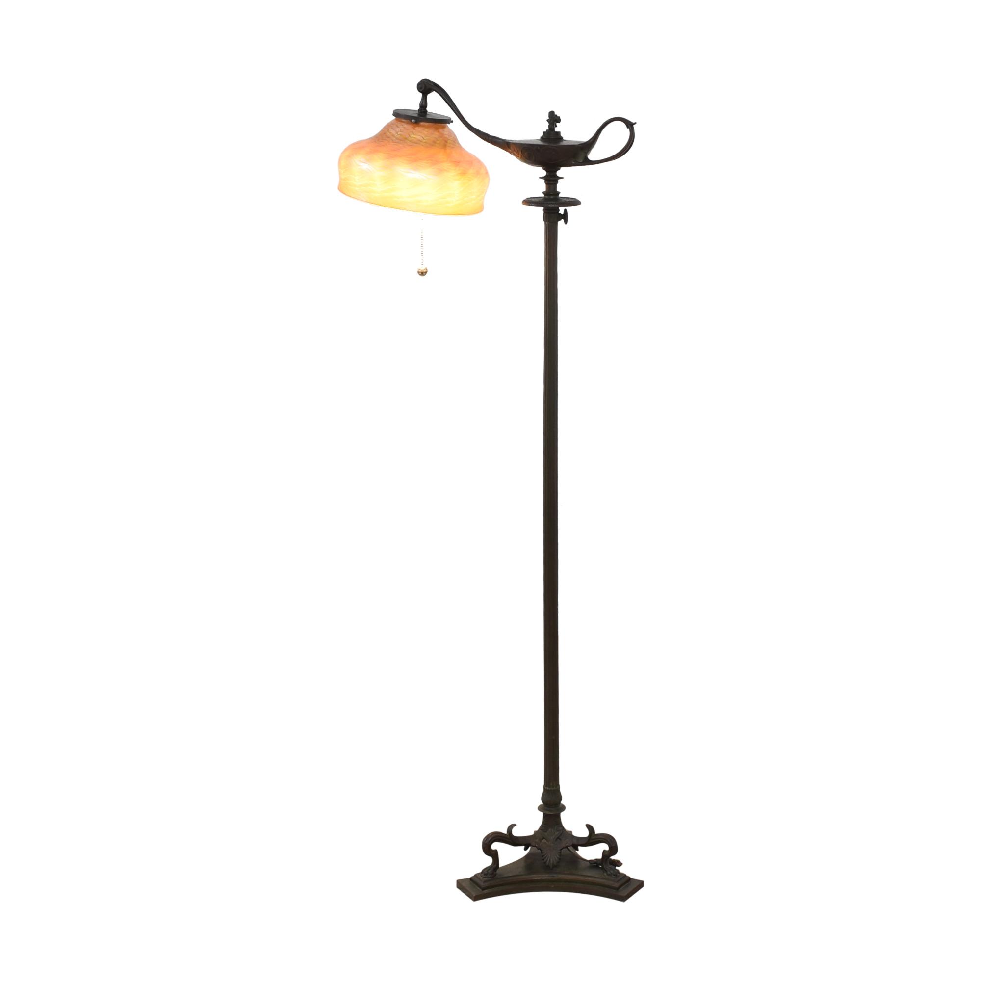 buy Tiffany Studios Gilt Bronze and Favrile Glass Aladdin Floor Lamp Tiffany Studios New York Lamps