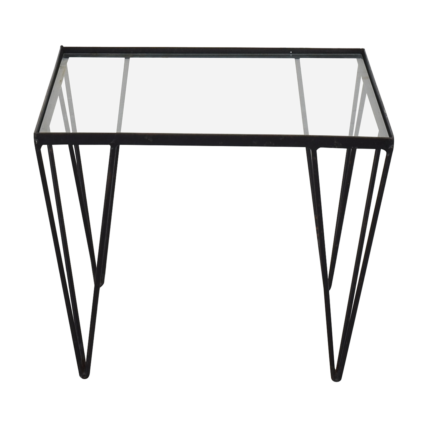 Vintage Iron Glass Table