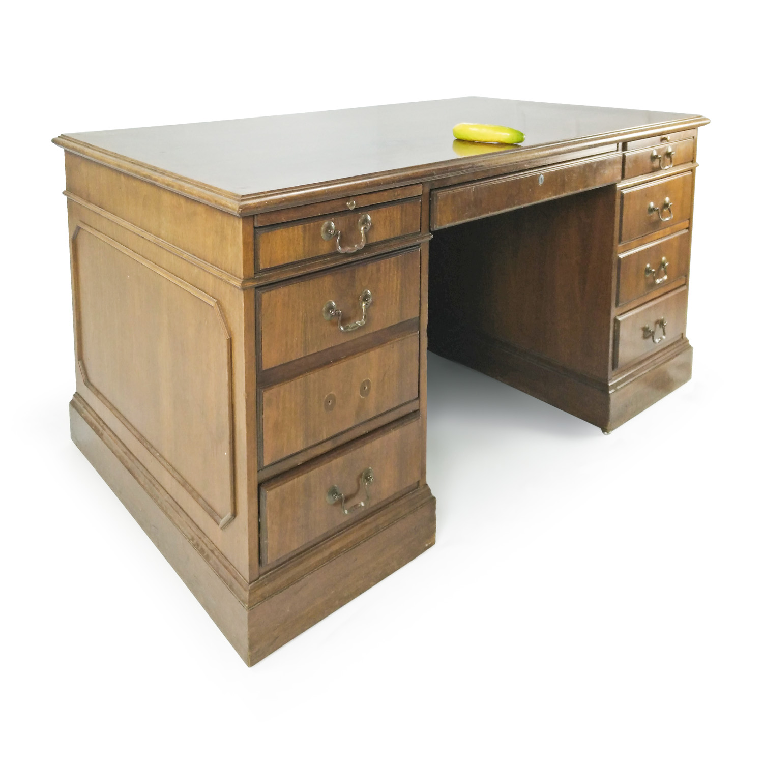 Antique Solid Oak Bankers Desk Antique