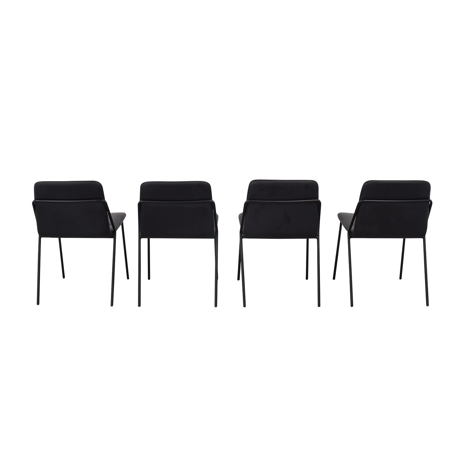 m.a.d. Black Sling Upholstered Chairs / Dining Chairs