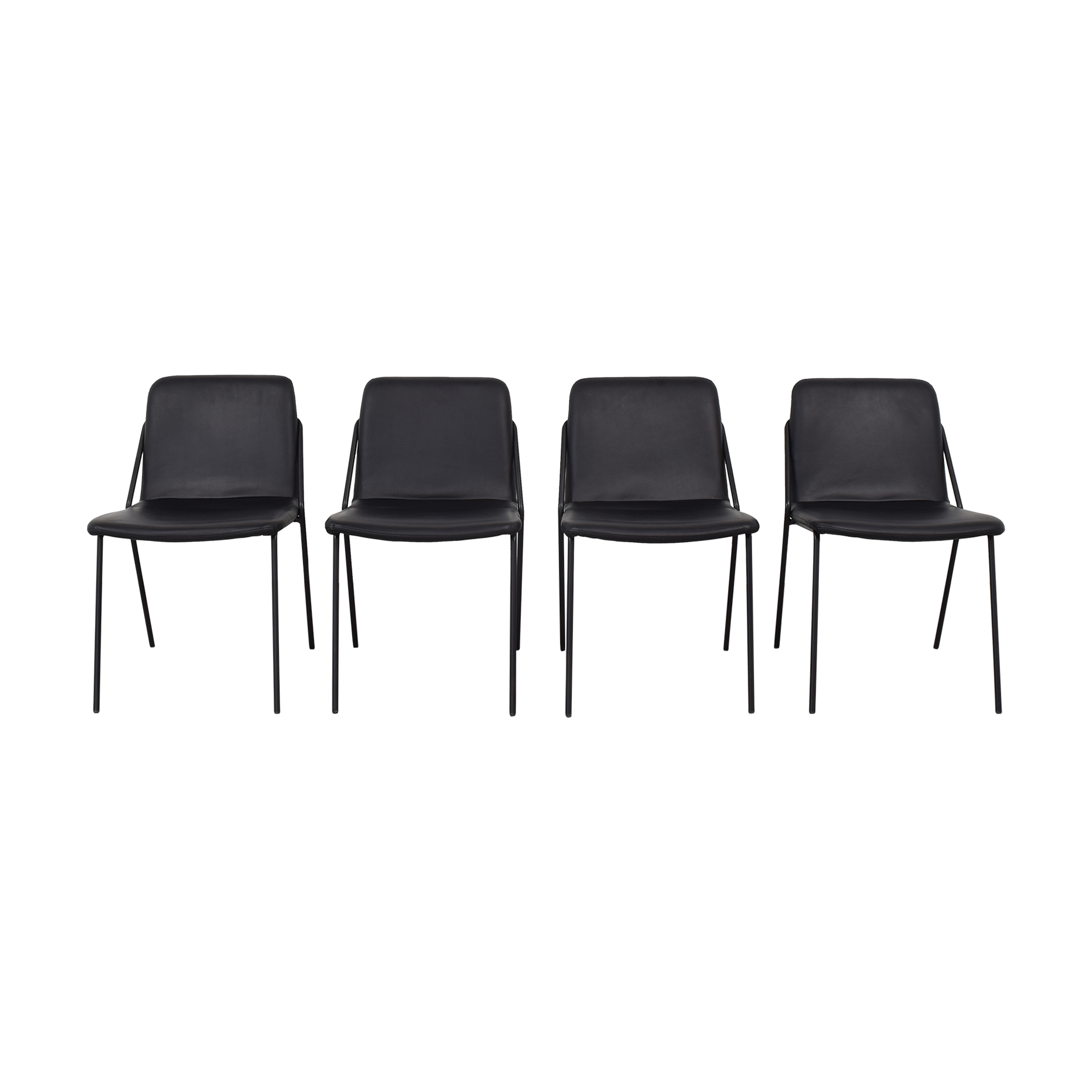 m.a.d. m.a.d. Black Sling Upholstered Chairs Dining Chairs