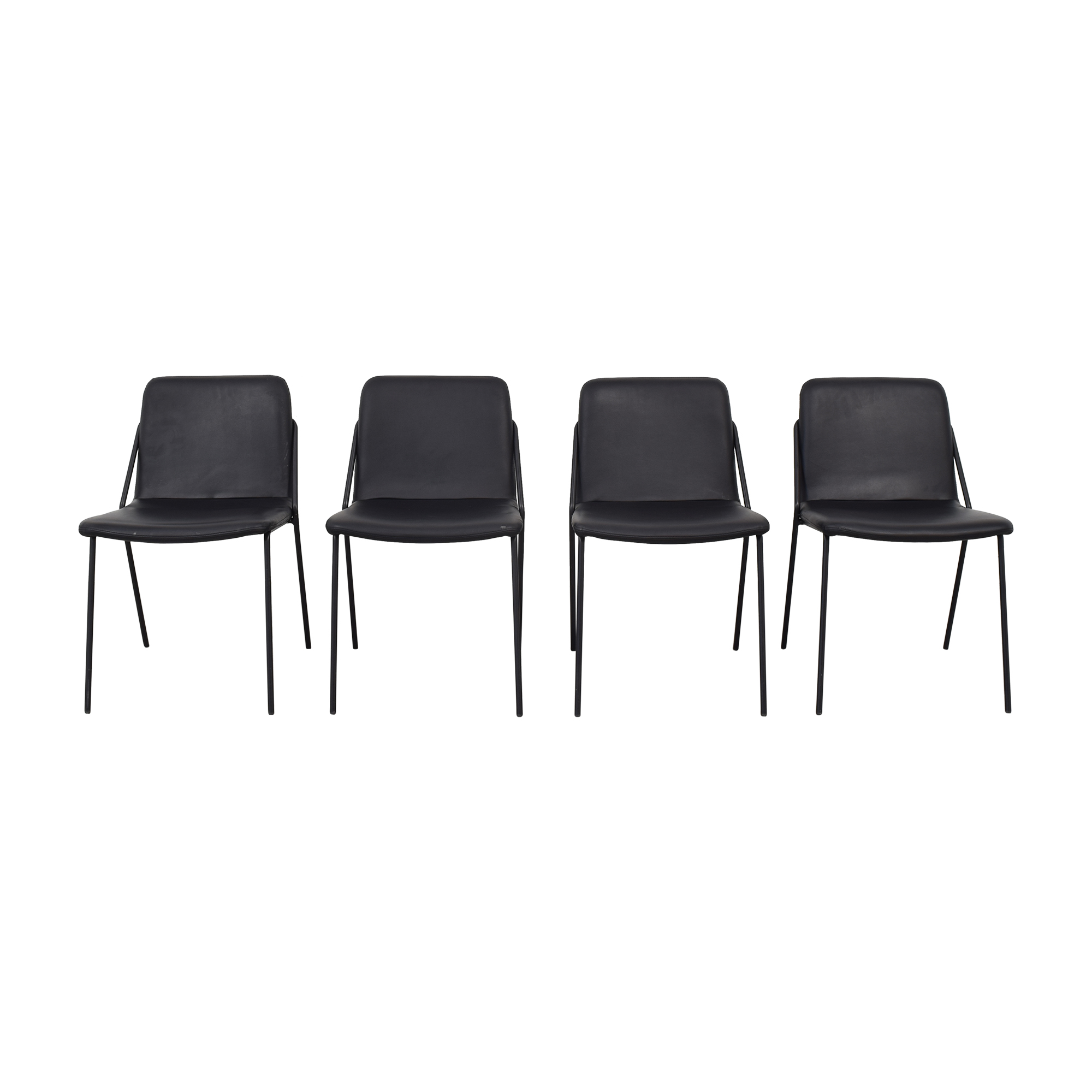 m.a.d. Black Sling Spholstered Chairs m.a.d.