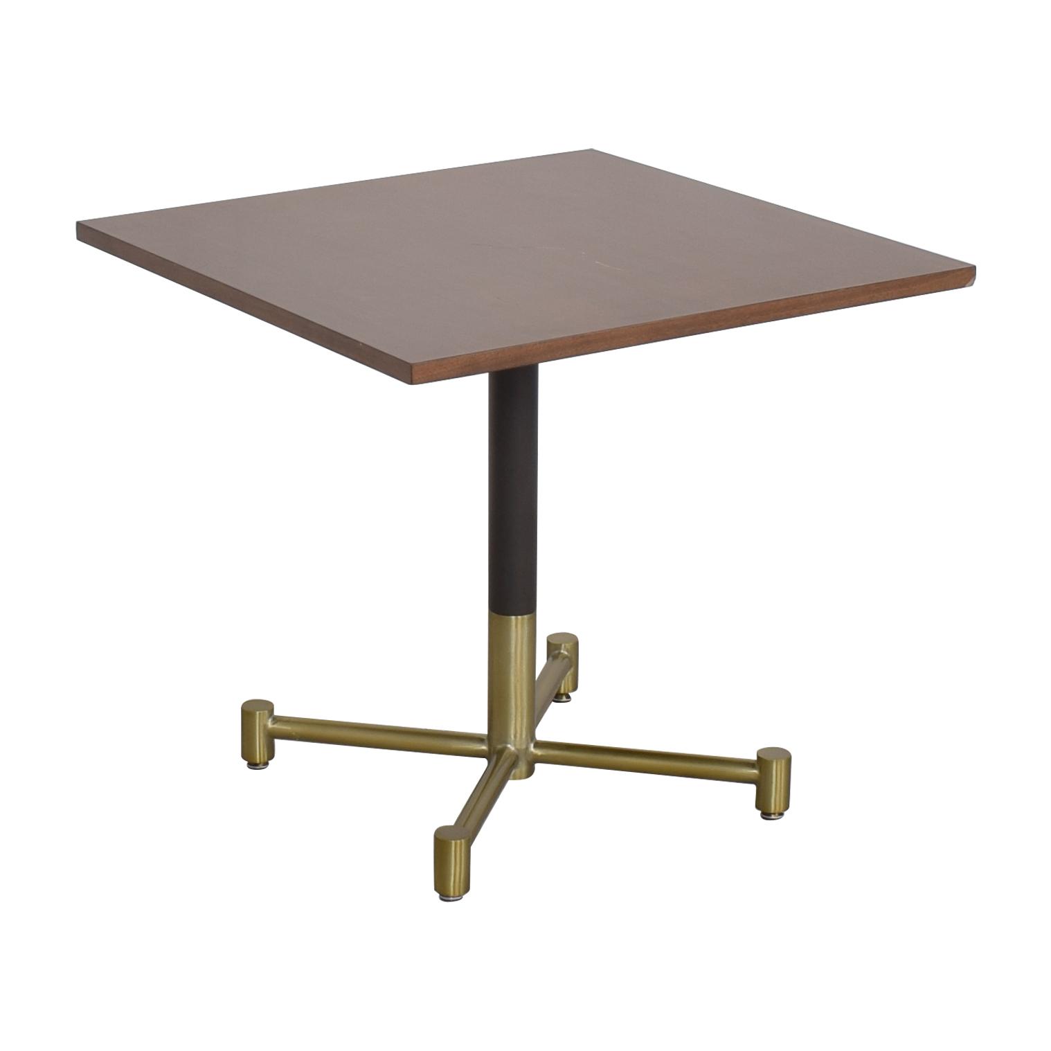 West Elm West Elm Square Bistro Table brown & gold