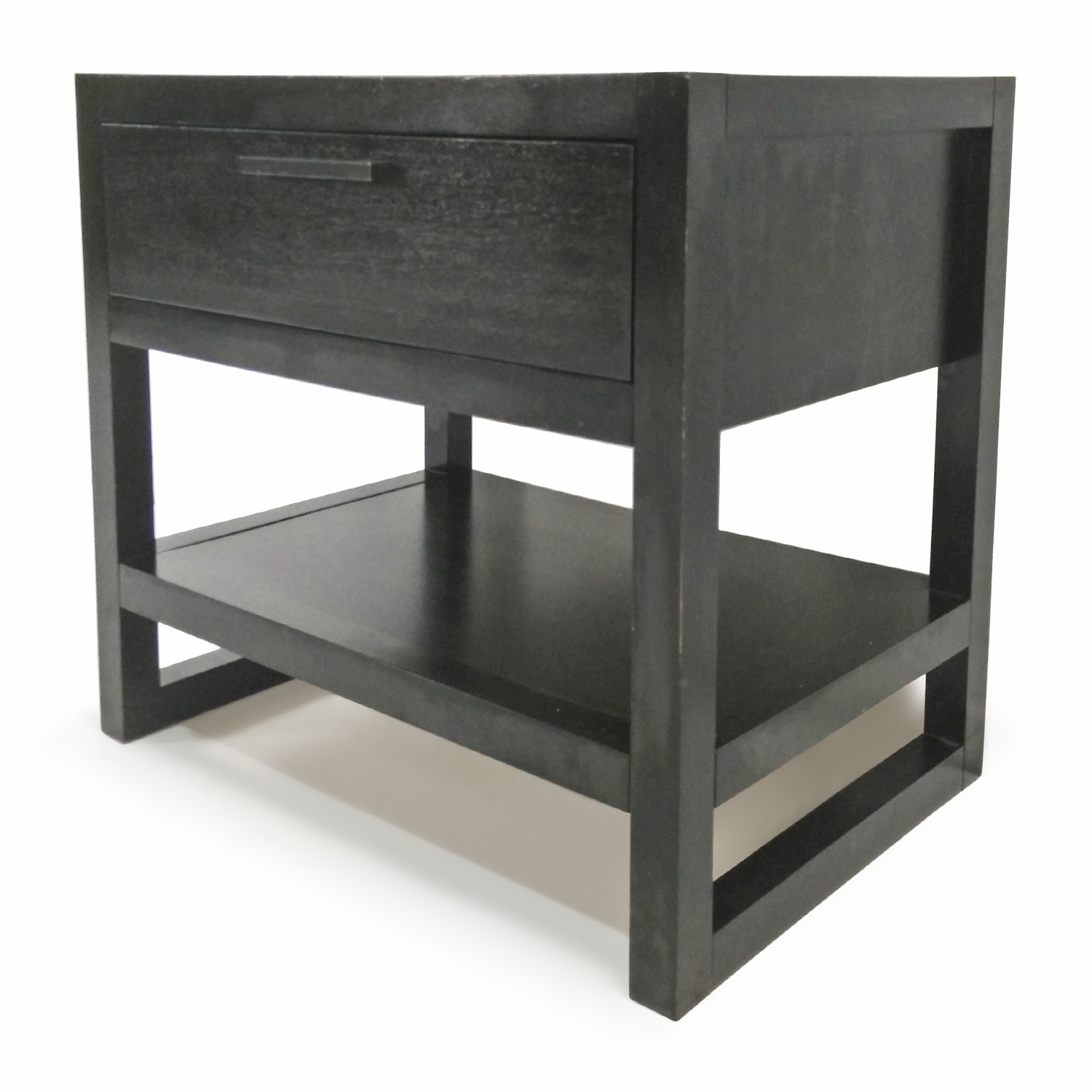 80 off macy 39 s macy 39 s dark wood side table tables for Black wood side table