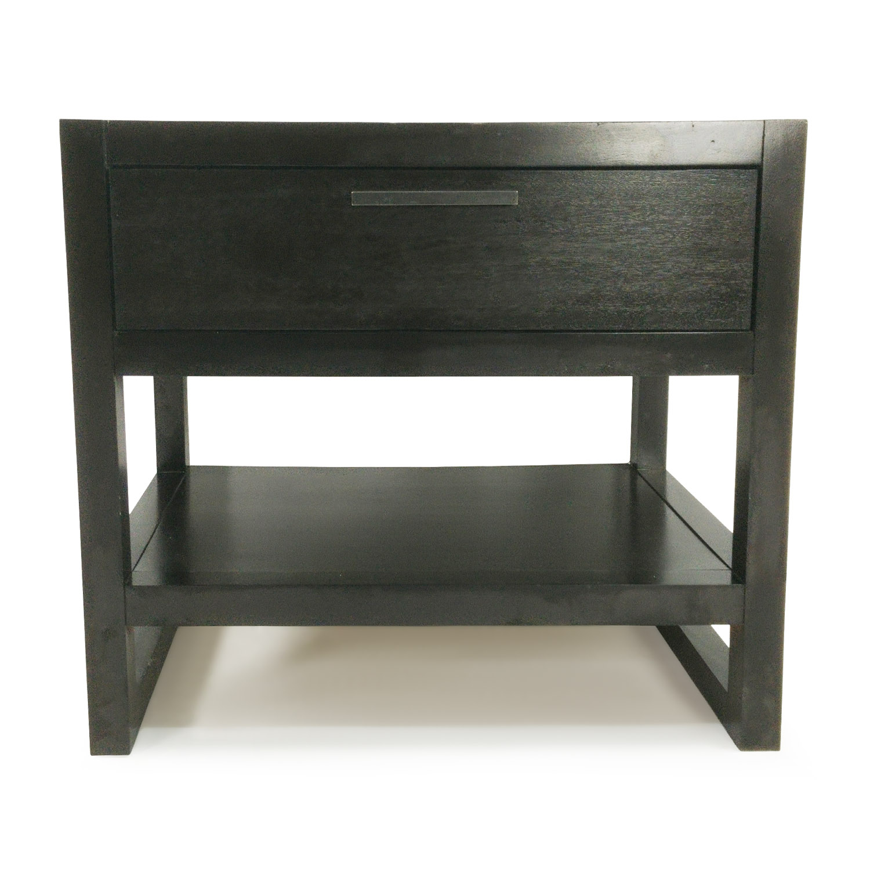 80 Off Macys Macys Dark Wood Side Table Tables