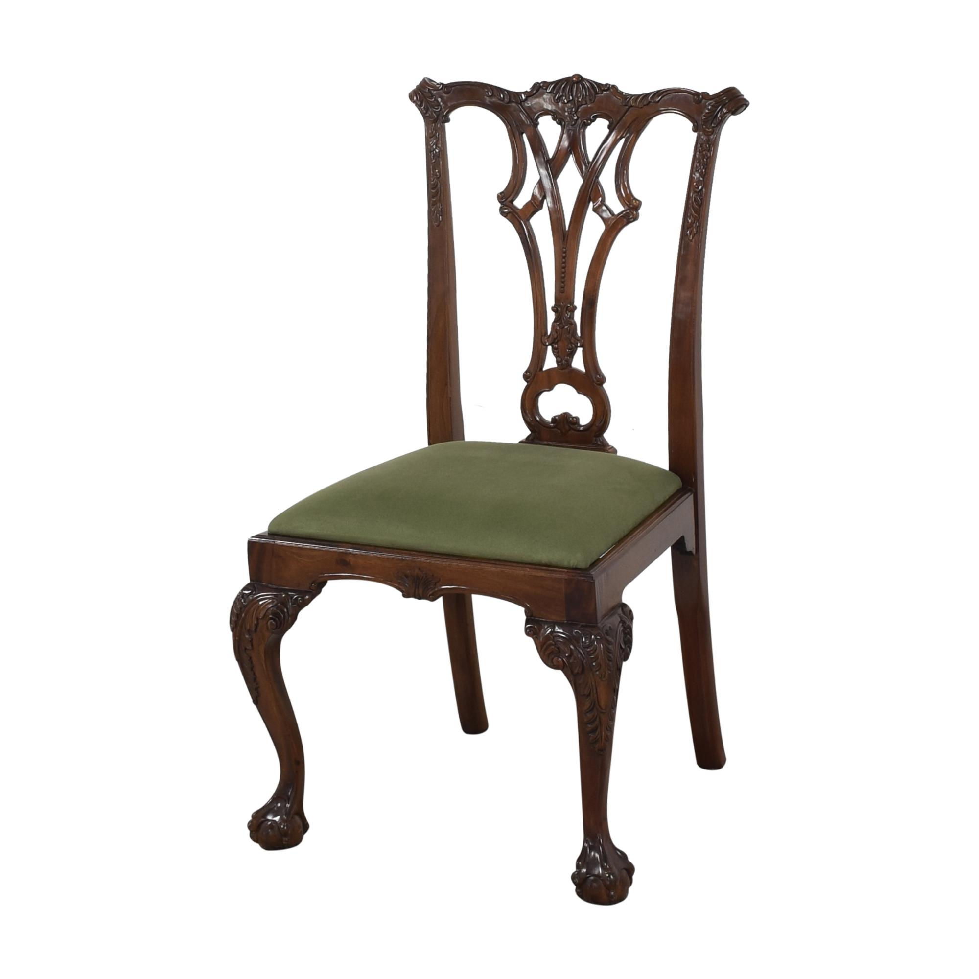 Greenbaum Interiors Greenbaum Interiors Vintage Upholstered Dining Chairs ct