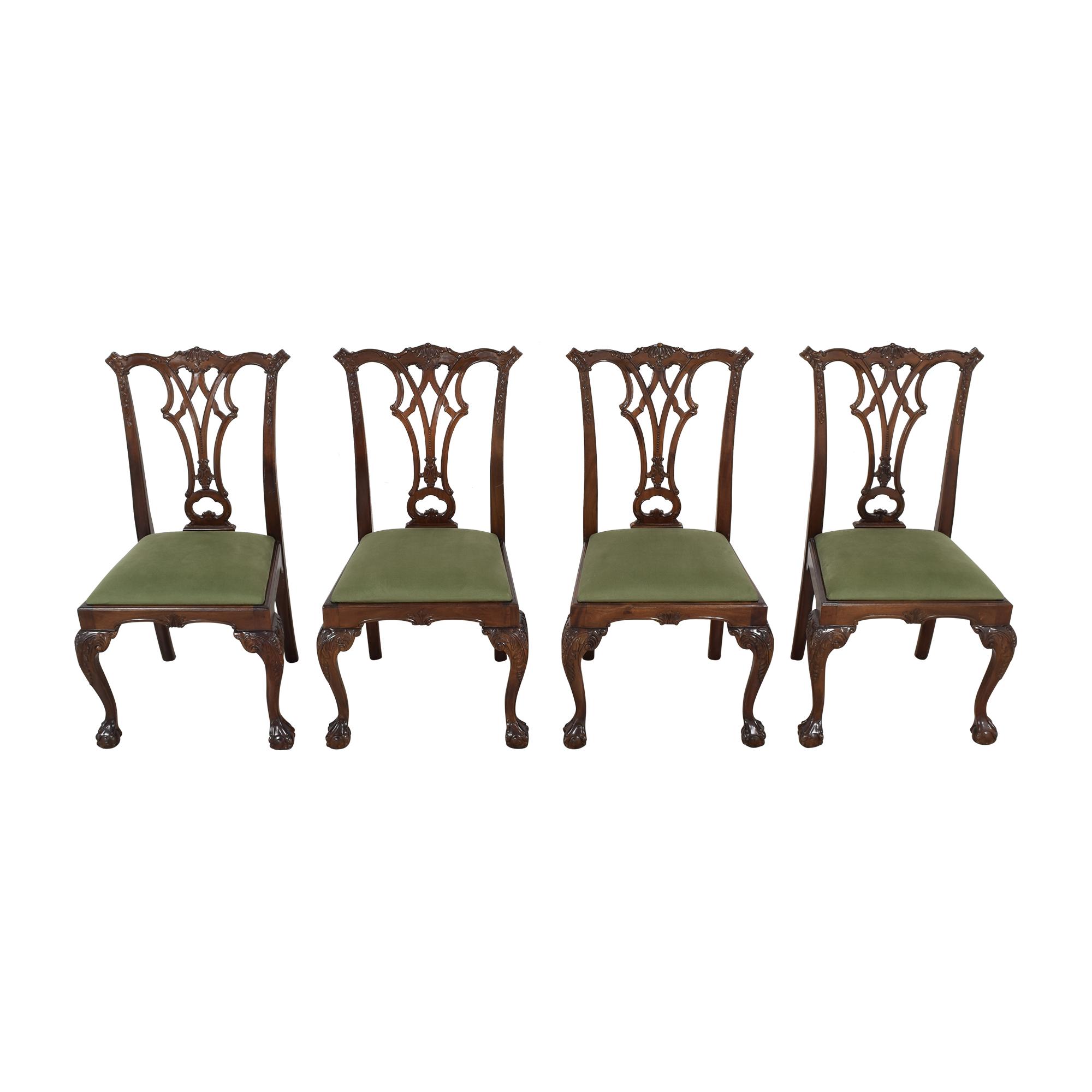 Greenbaum Interiors Greenbaum Interiors Vintage Upholstered Dining Chairs pa