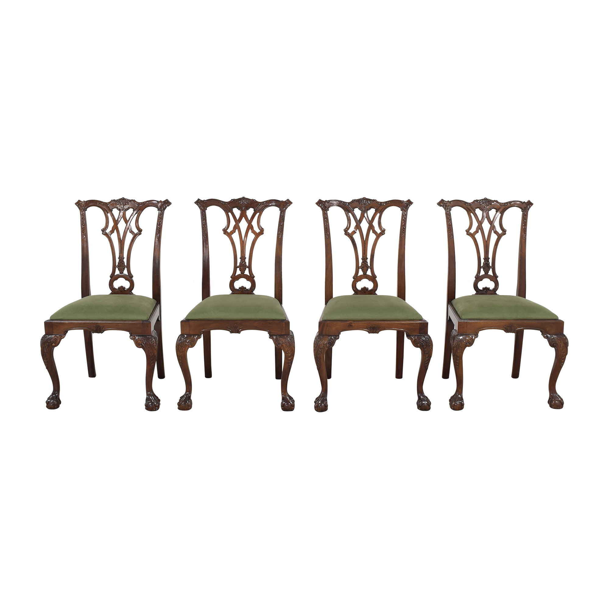Greenbaum Interiors Greenbaum Interiors Vintage Upholstered Dining Chairs for sale