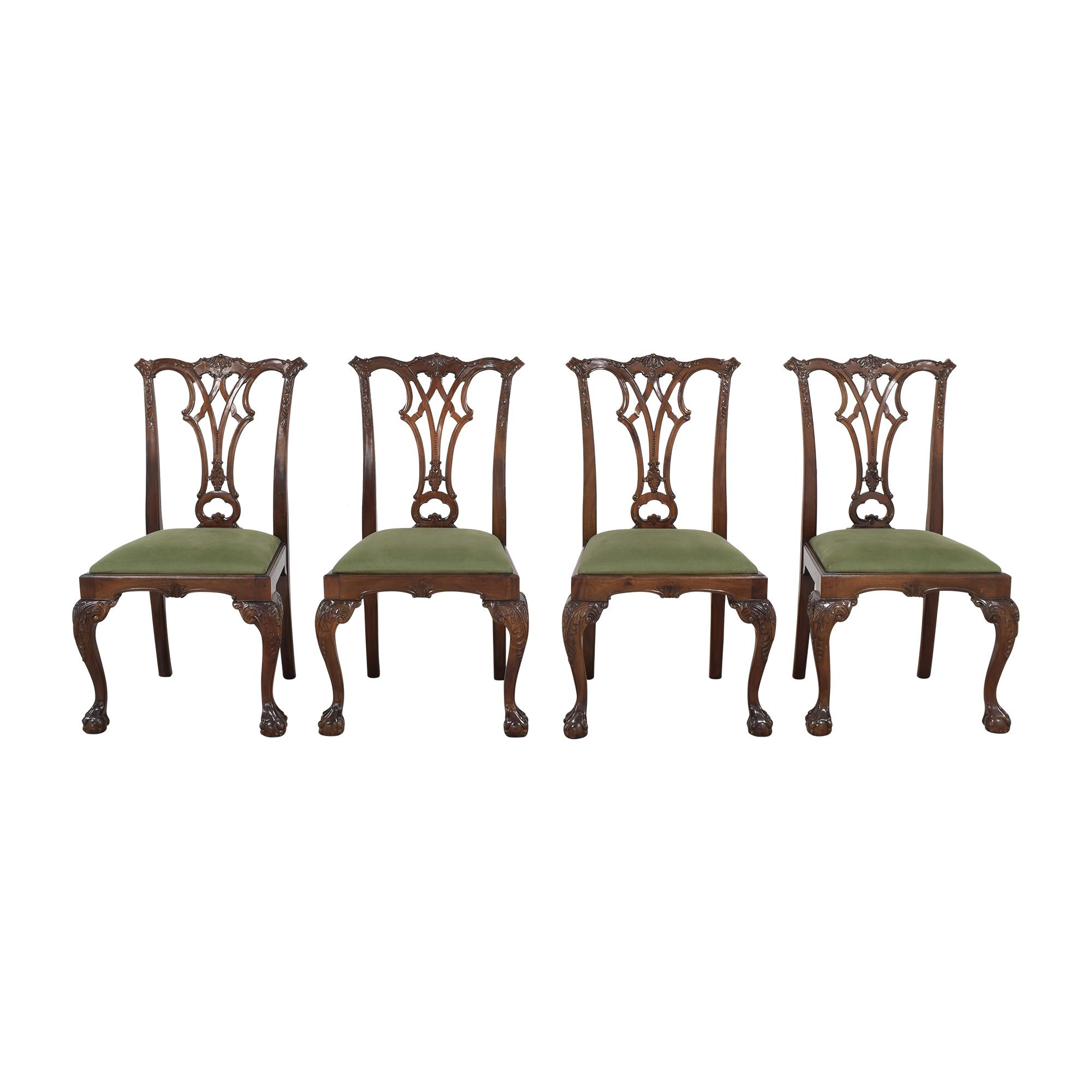 Greenbaum Interiors Greenbaum Interiors Vintage Upholstered Dining Chairs second hand