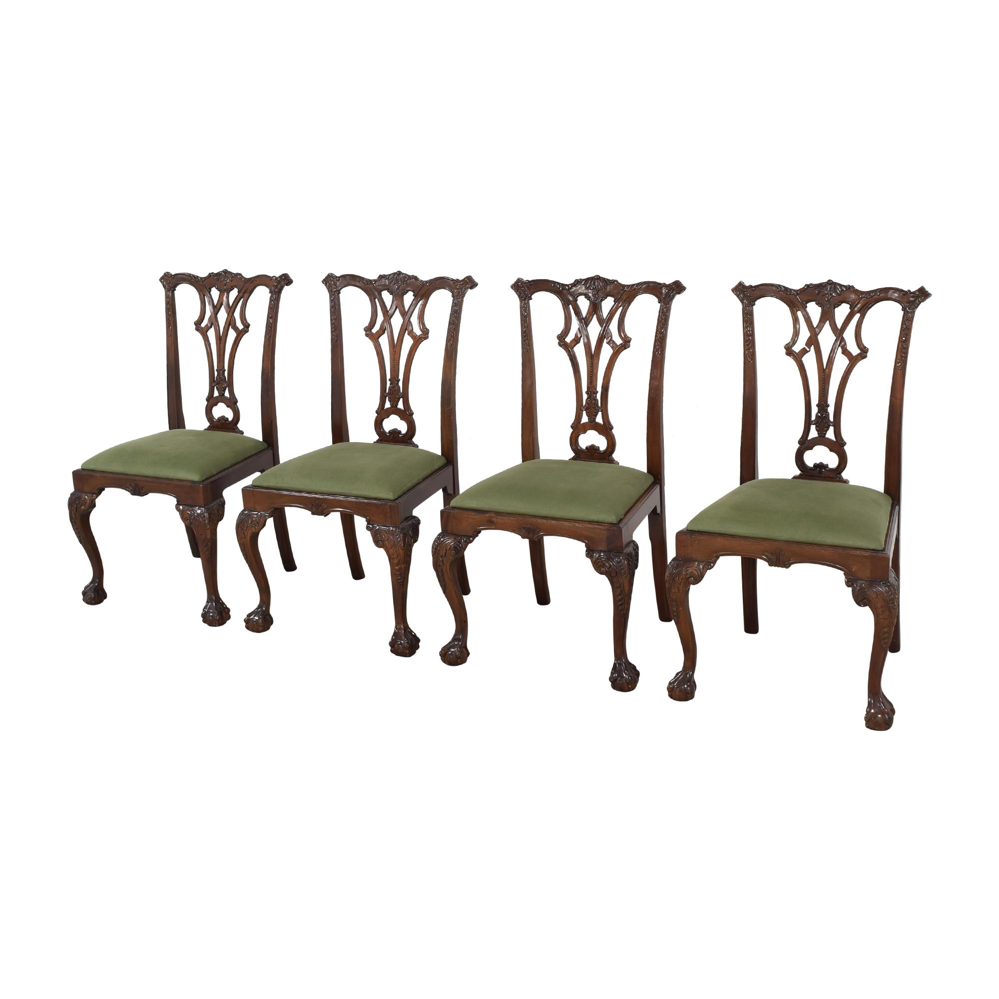 Greenbaum Interiors Greenbaum Interiors Vintage Upholstered Dining Chairs nj