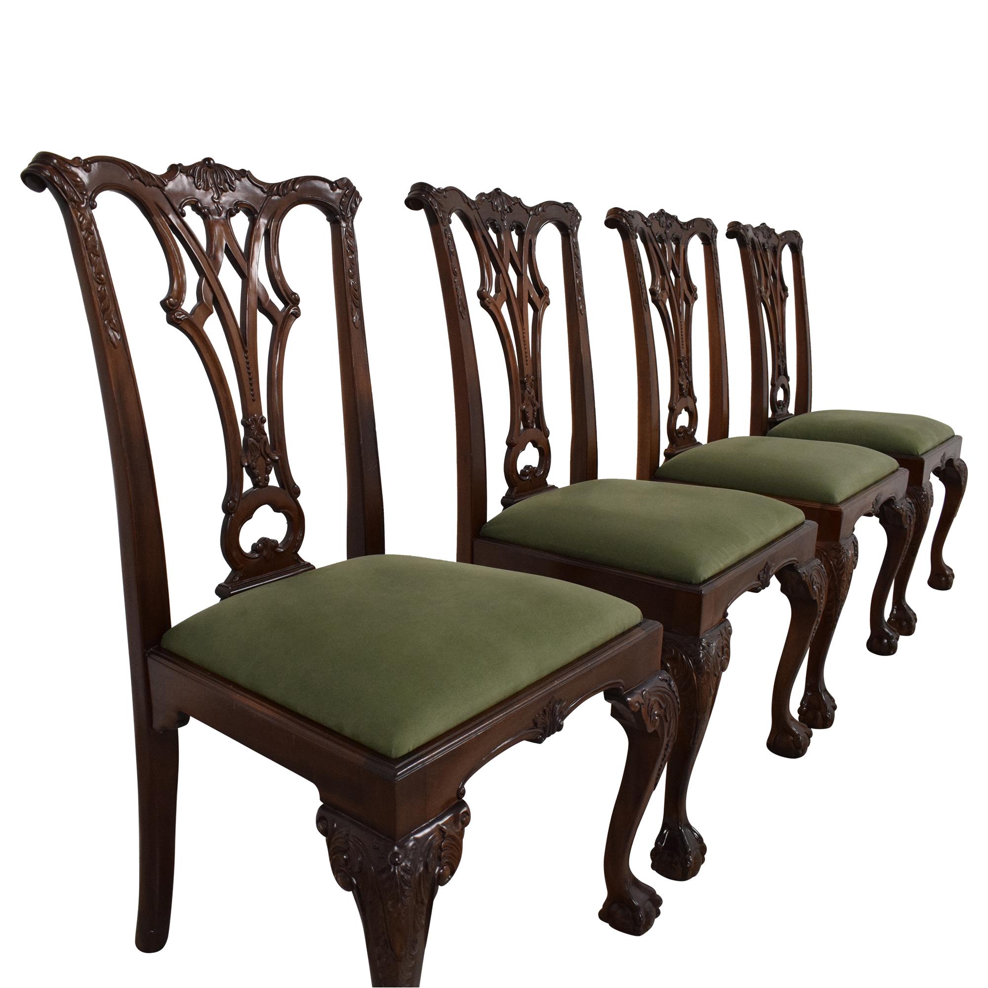 Greenbaum Interiors Greenbaum Interiors Vintage Upholstered Dining Chairs dimensions