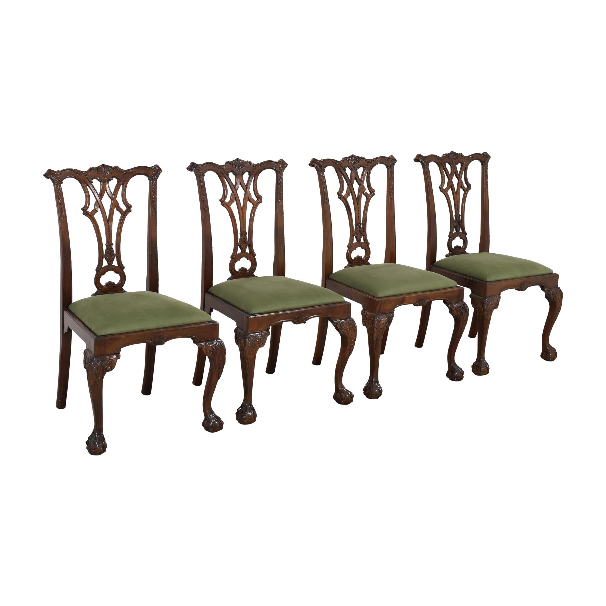 Greenbaum Interiors Vintage Upholstered Dining Chairs Greenbaum Interiors