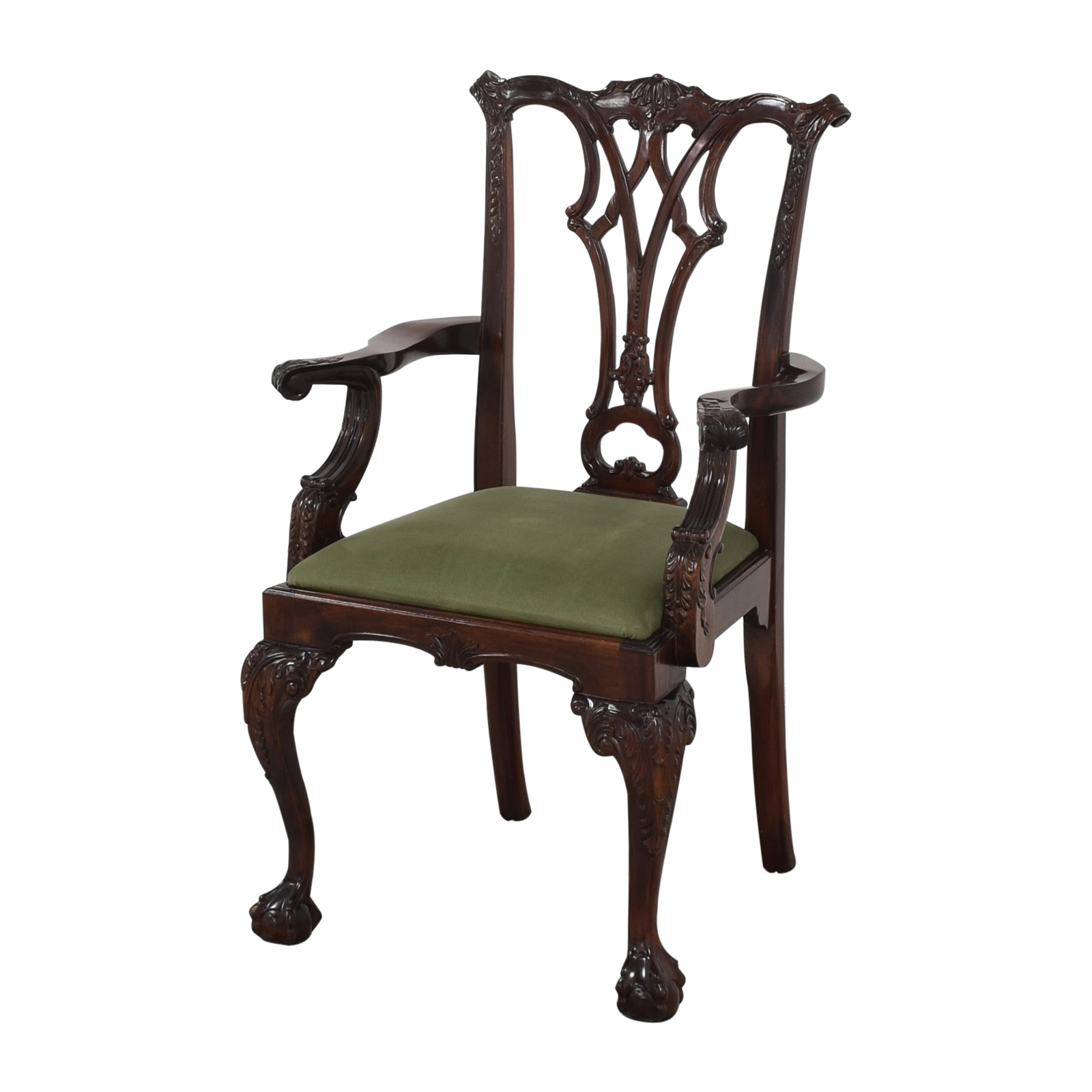 Greenbaum Interiors Queen Anne Style Dining Arm Chairs used
