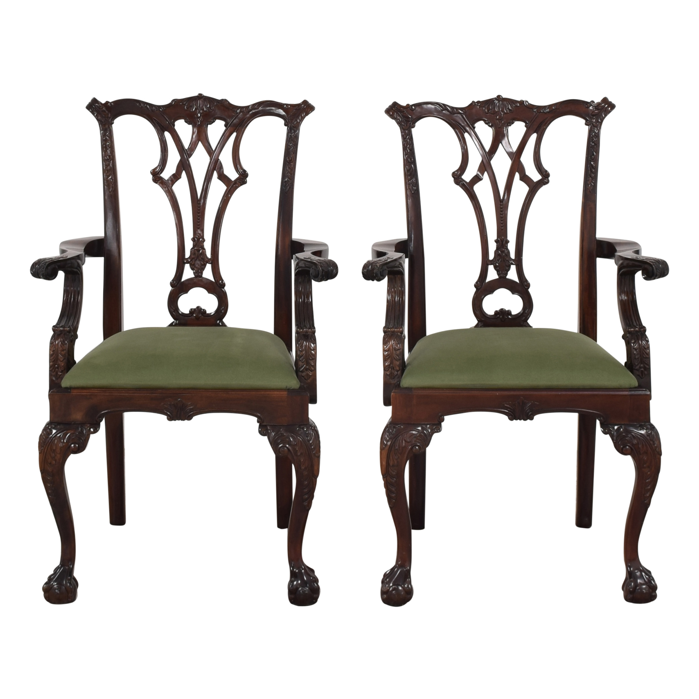 Greenbaum Interiors Queen Anne Style Dining Arm Chairs Chairs