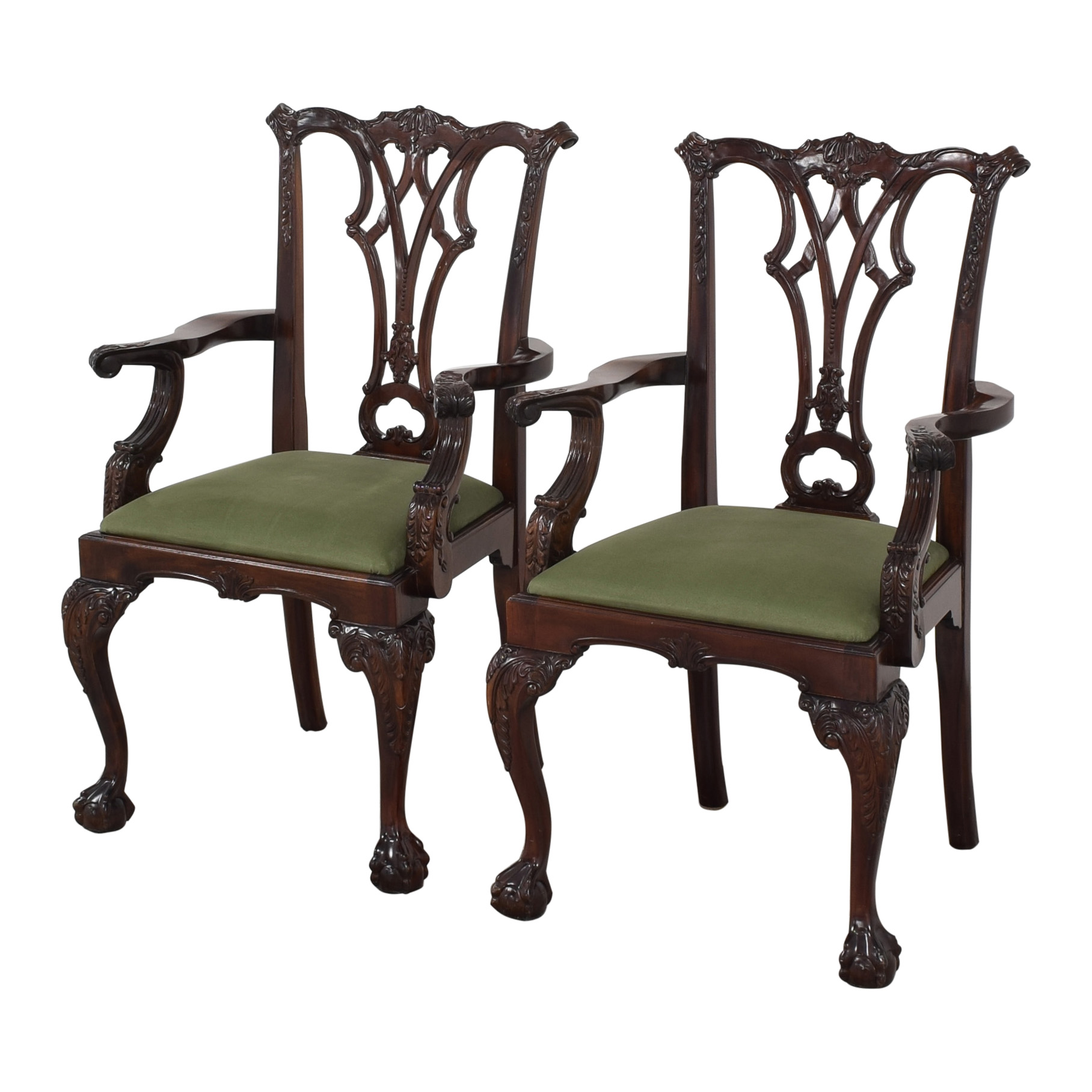 shop Queen Anne Style Dining Arm Chairs Greenbaum Interiors Chairs