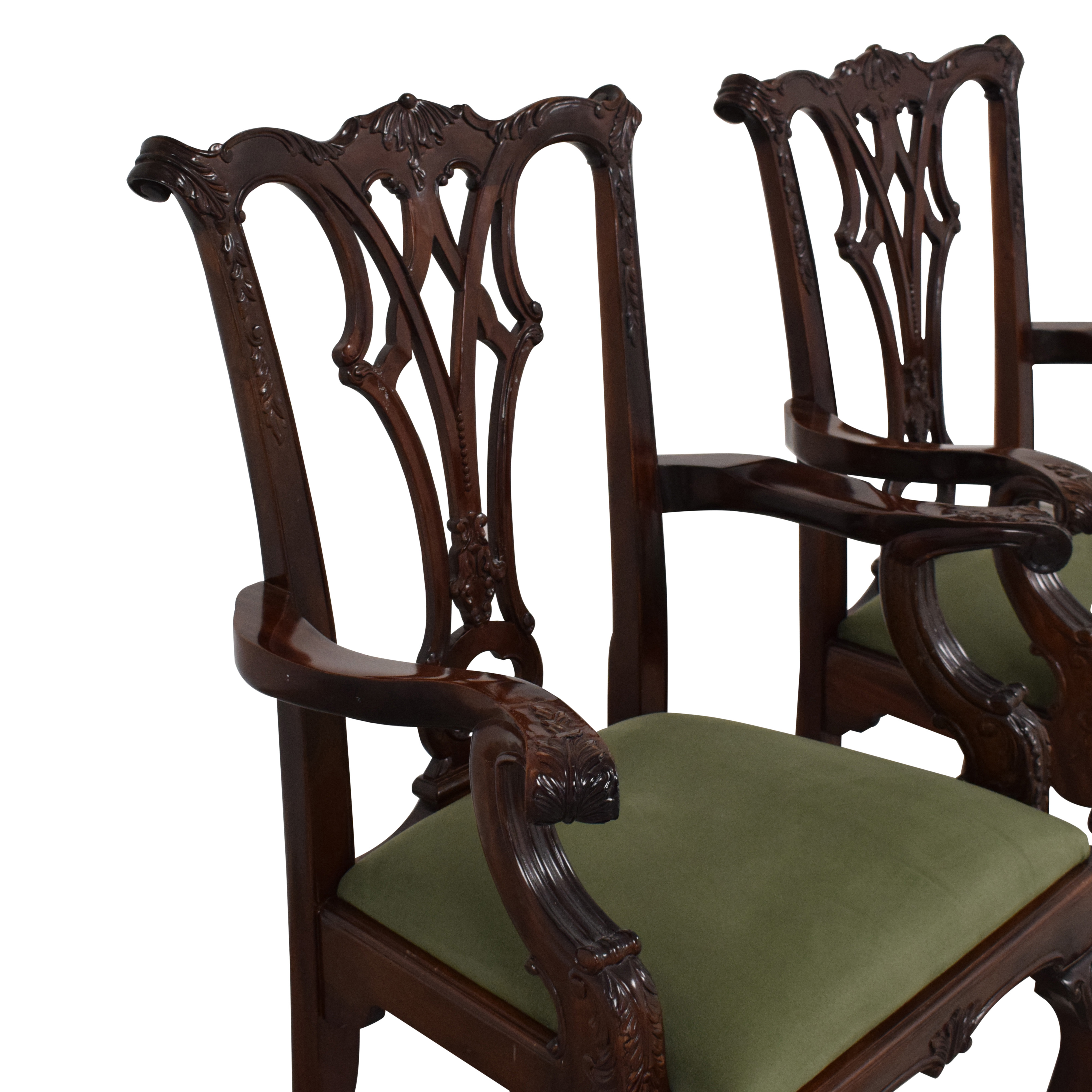 Queen Anne Style Dining Arm Chairs / Dining Chairs