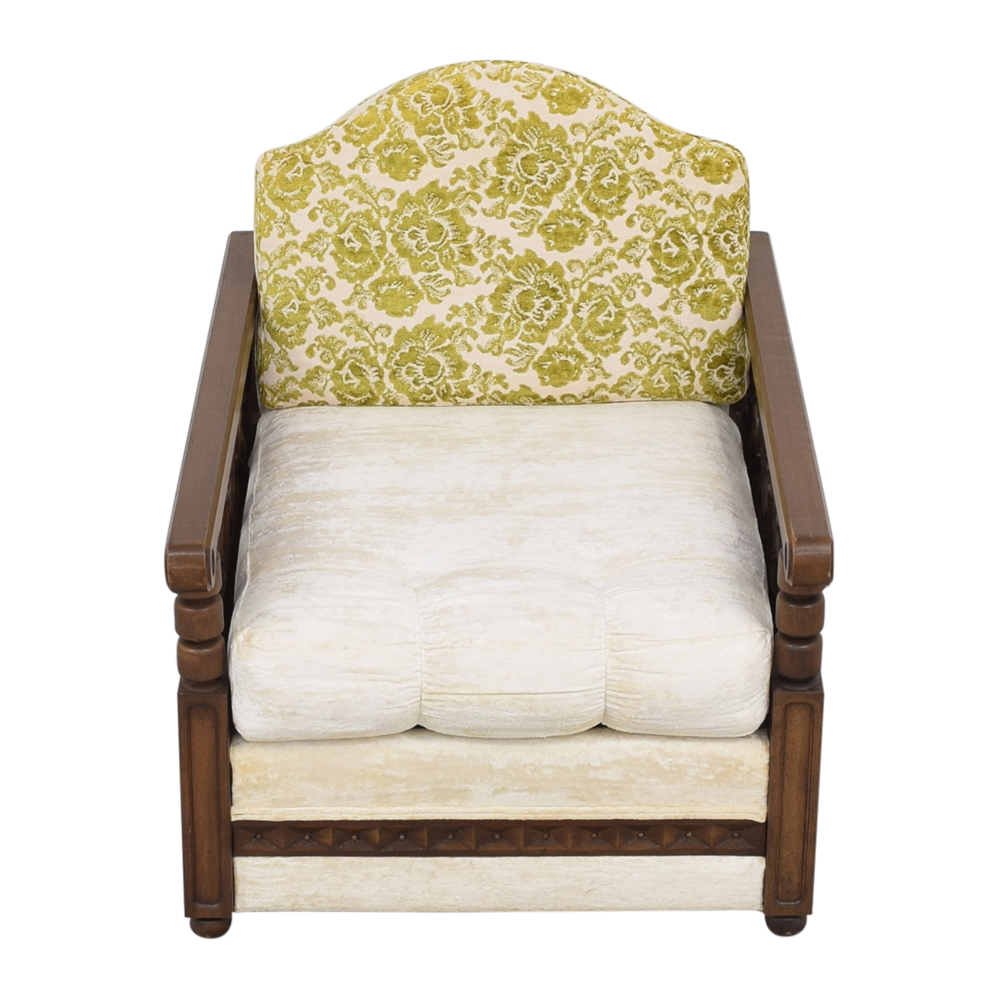 Vintage Carved Arm Accent Chair Accent Chairs