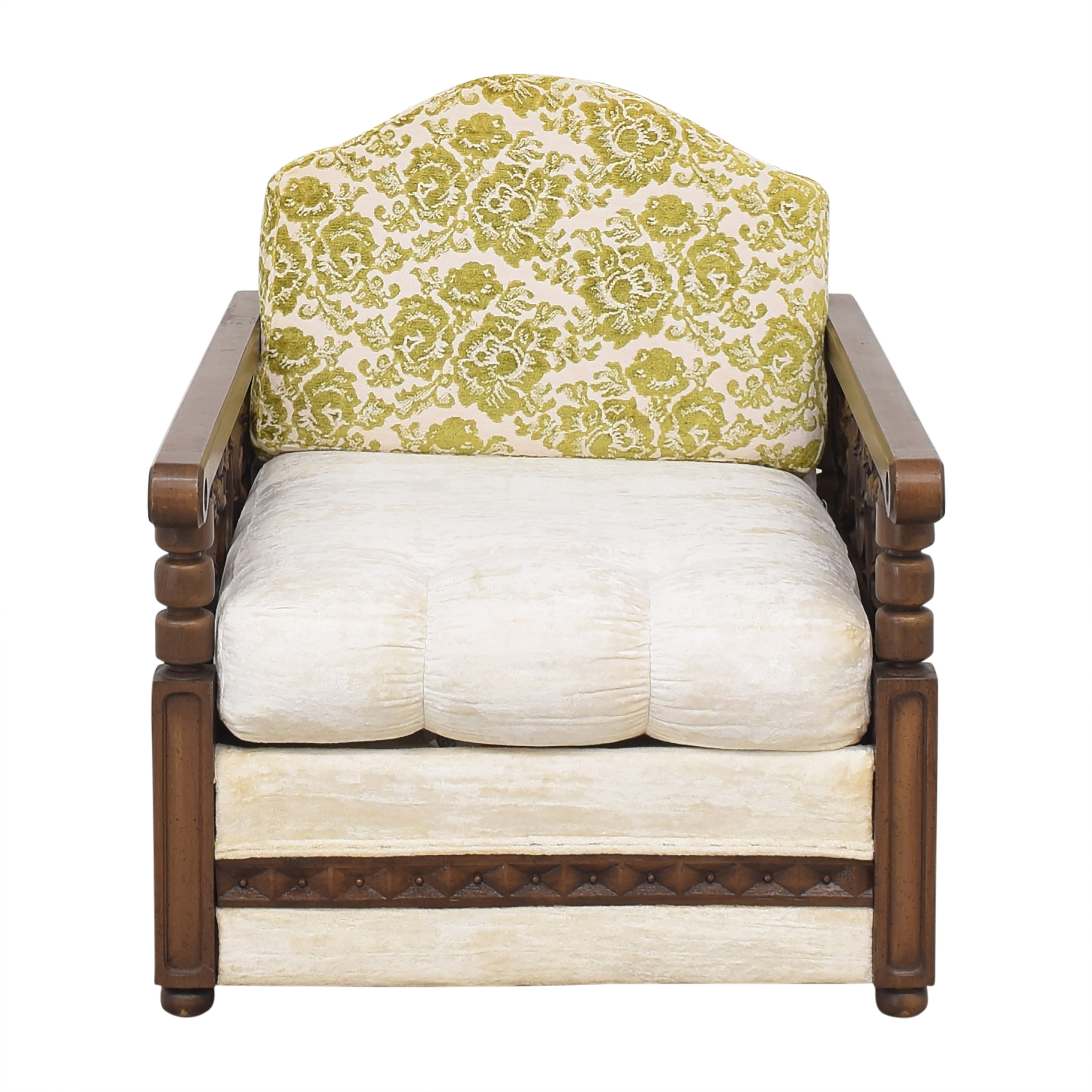 buy  Vintage Carved Arm Accent Chair online
