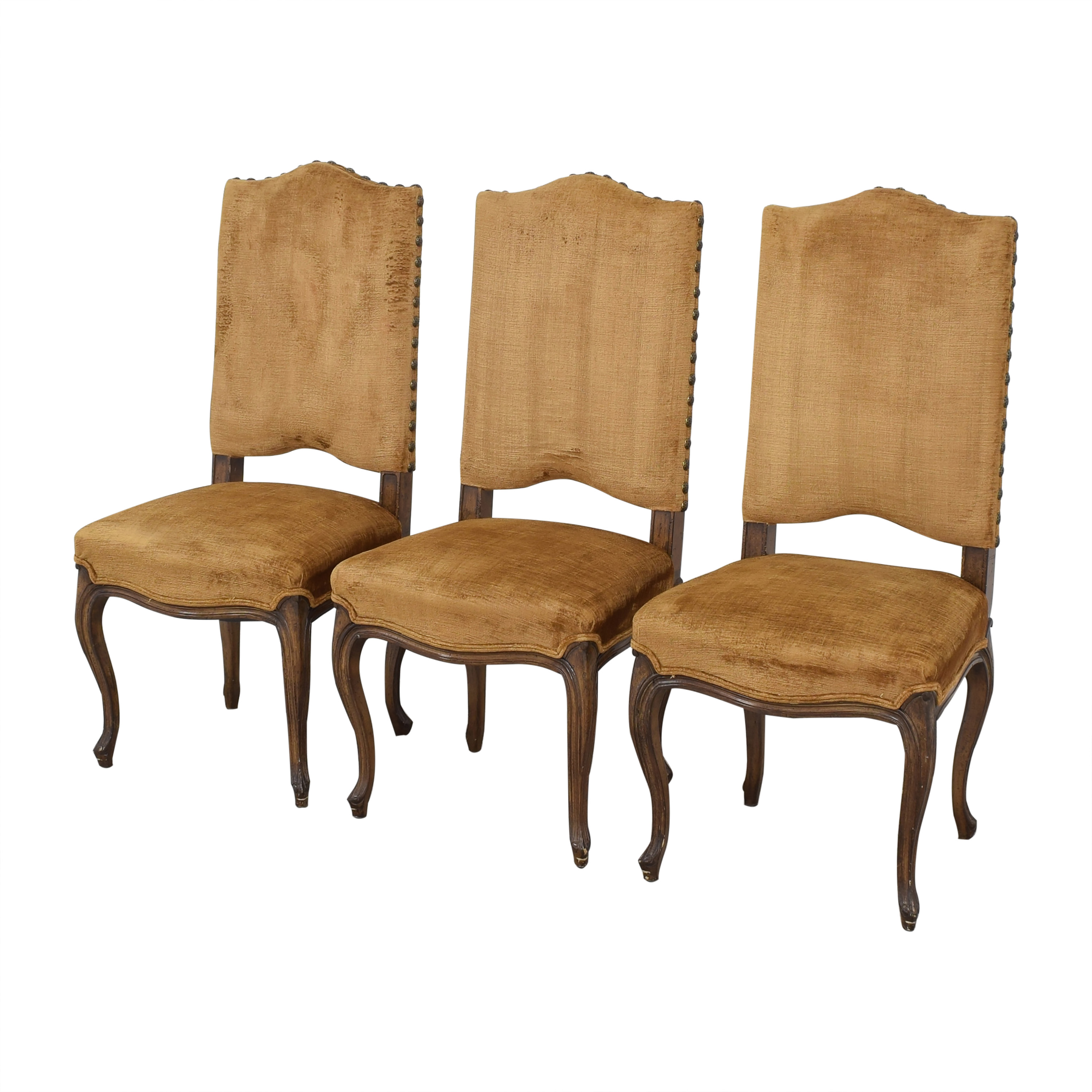 Upholstered Nail Head Dining Chairs ma