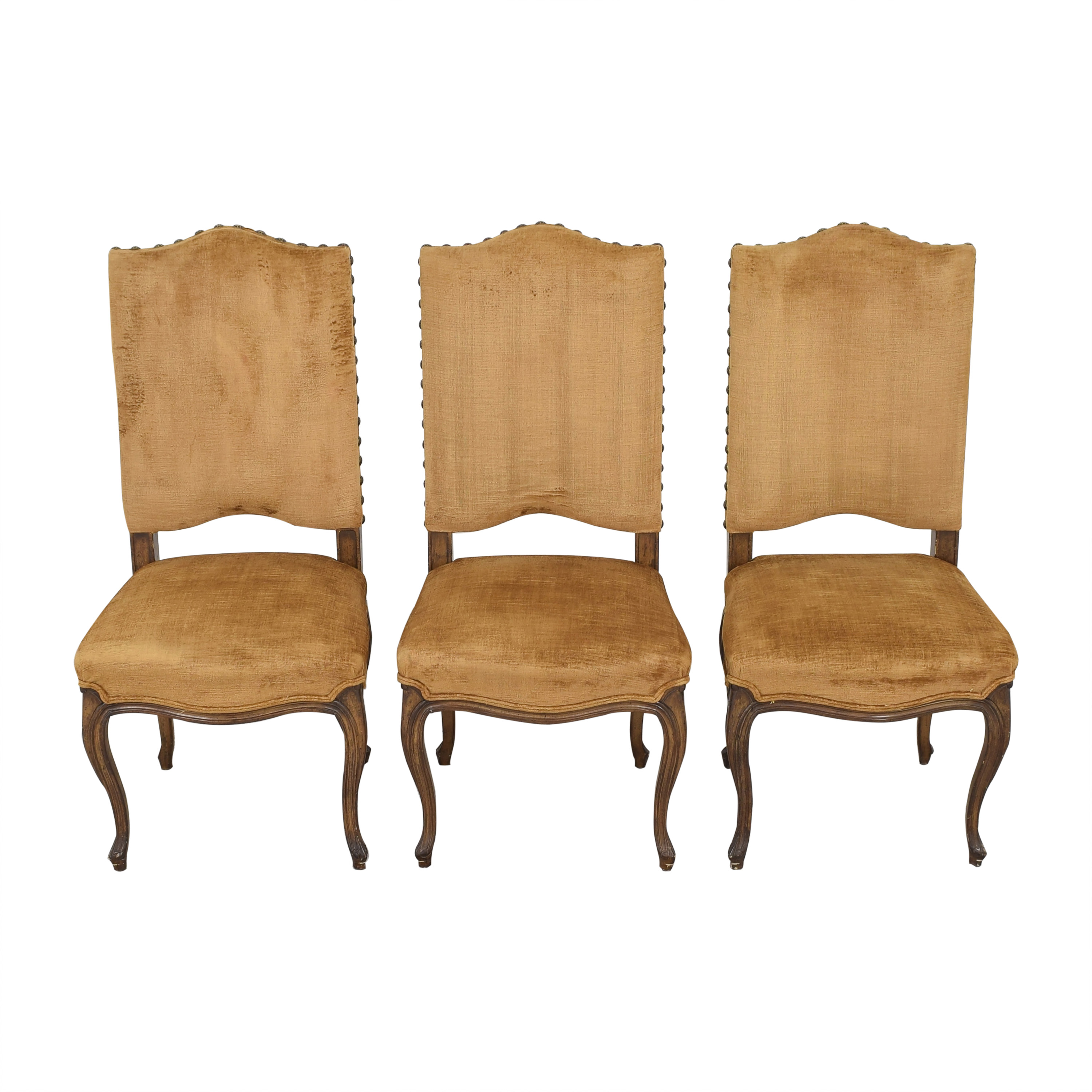 Upholstered Nail Head Dining Chairs dimensions