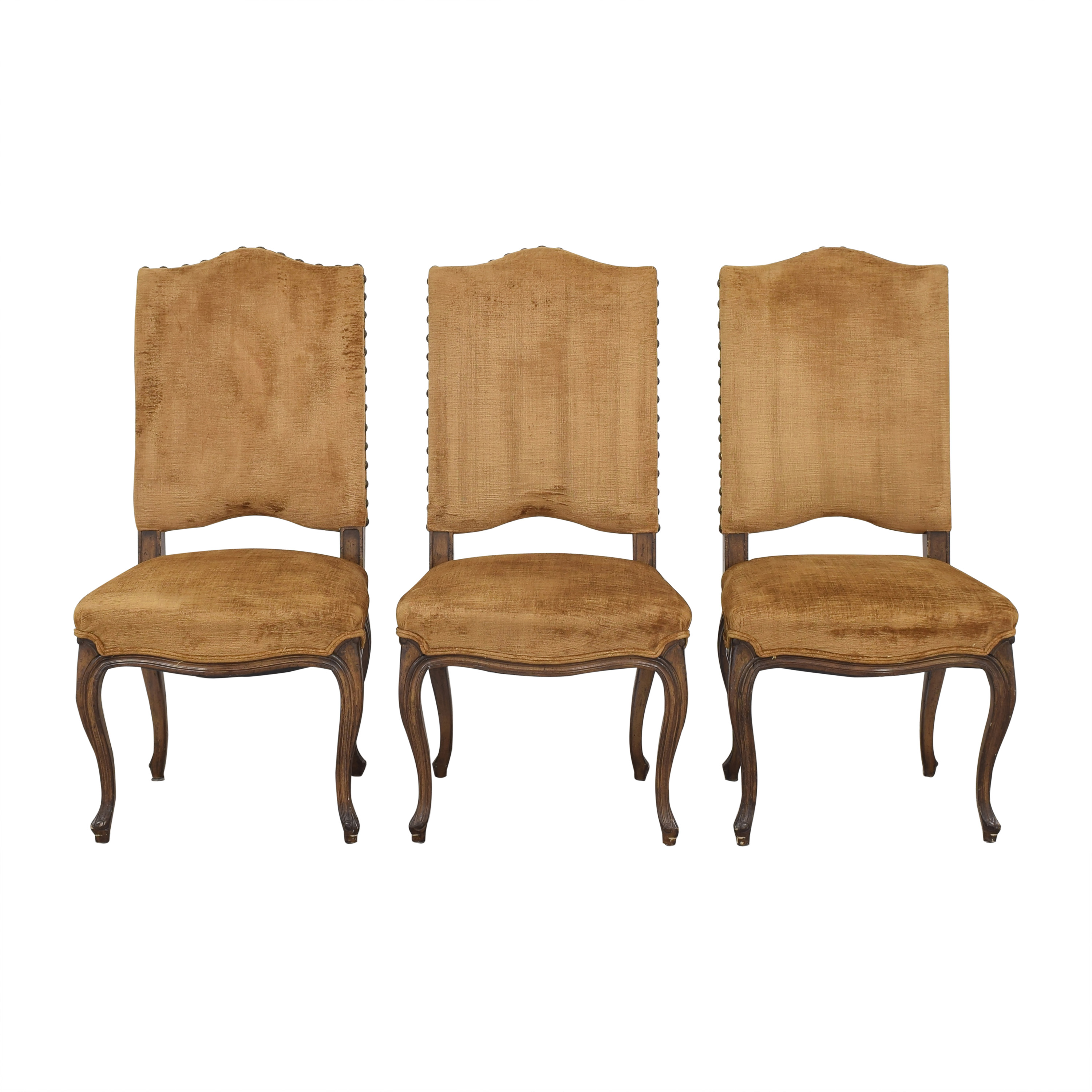 Upholstered Nail Head Dining Chairs sale
