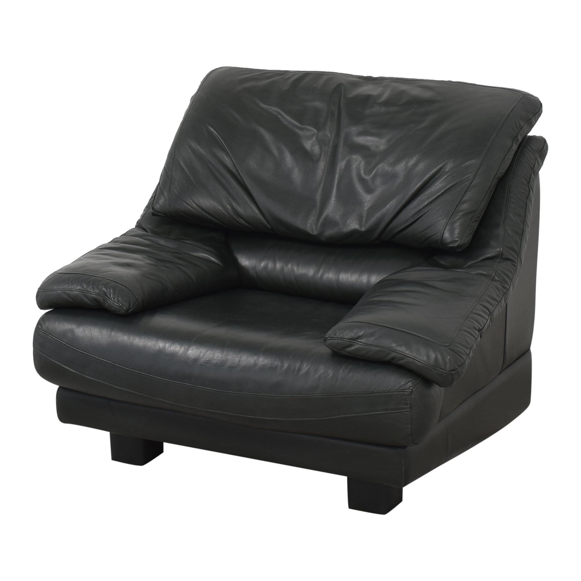 Natuzzi Natuzzi Padded Arm Lounge Chair pa