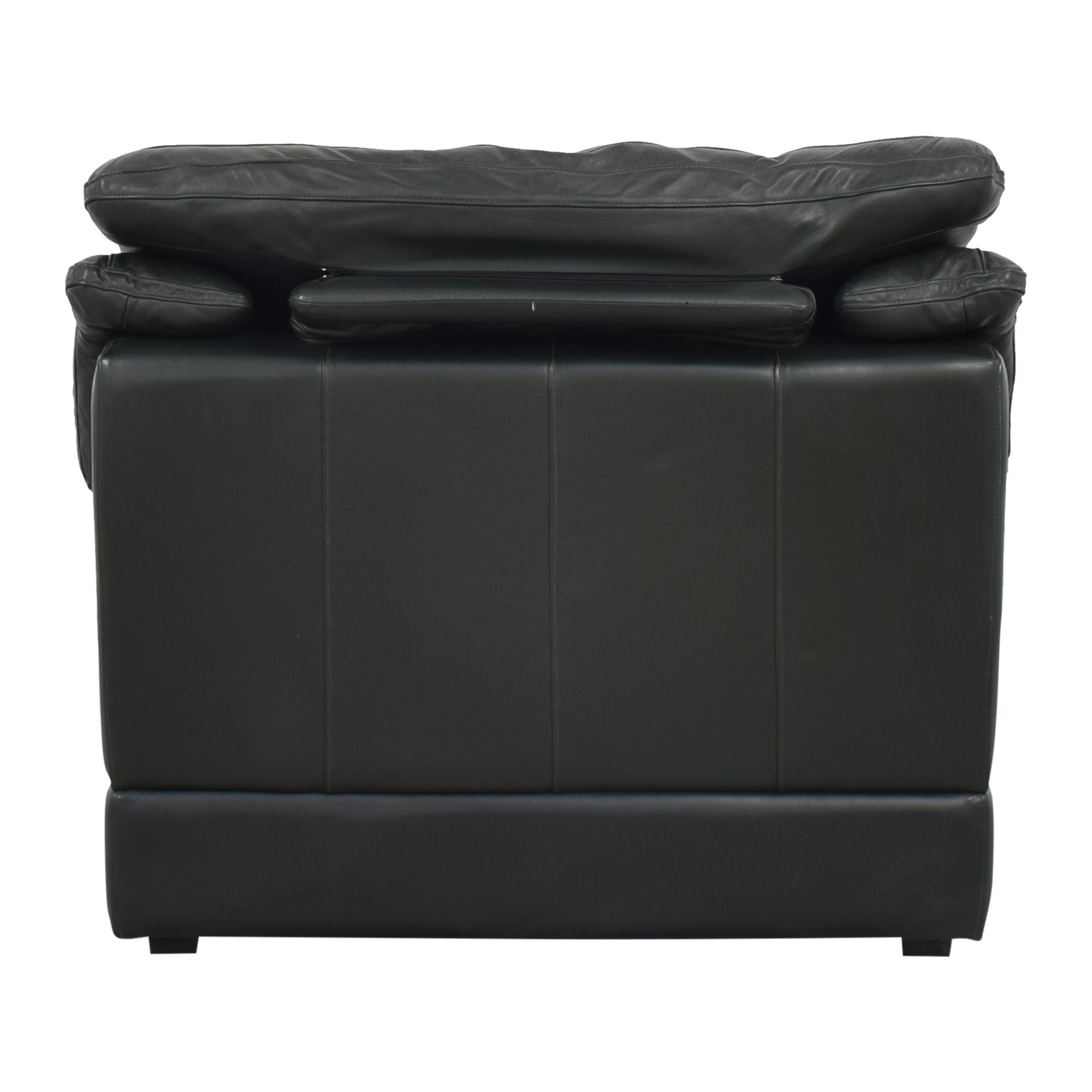 Natuzzi Natuzzi Padded Arm Lounge Chair nj