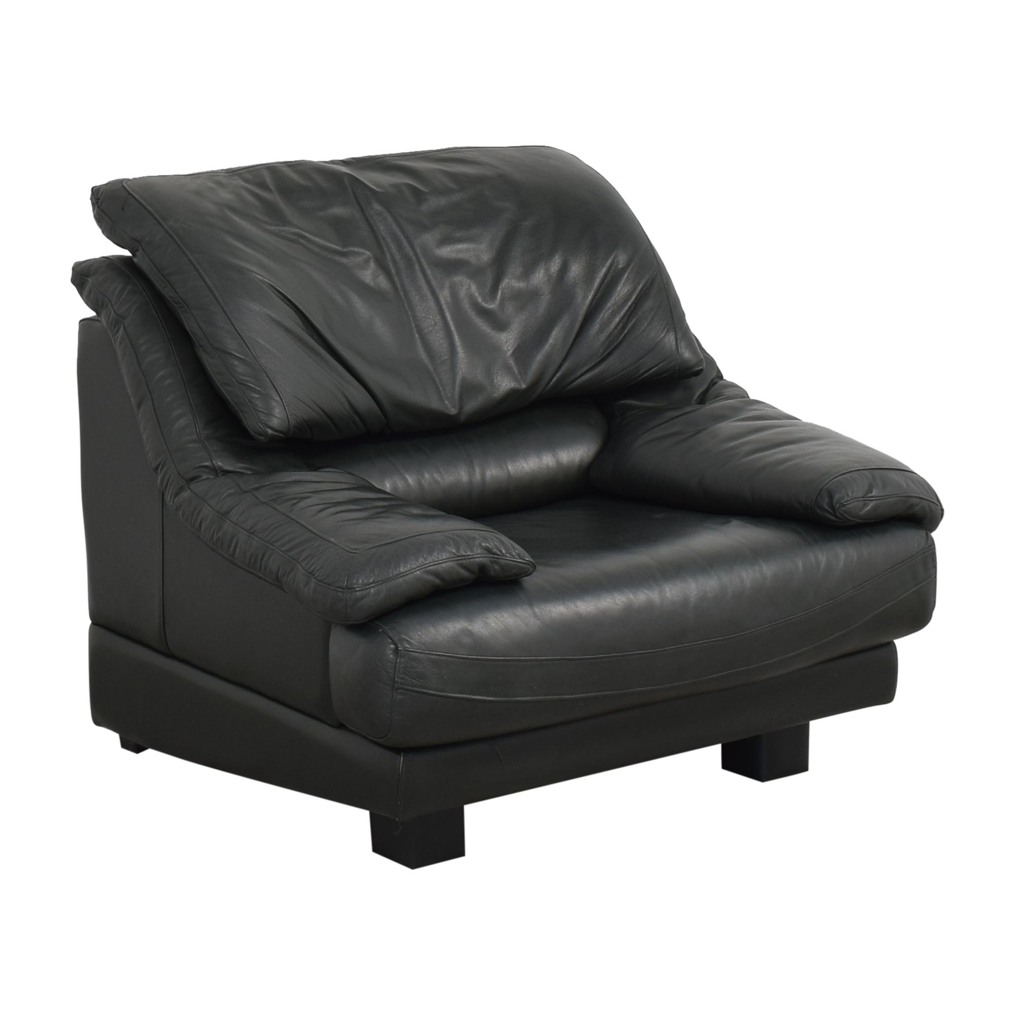 buy Natuzzi Padded Arm Lounge Chair Natuzzi