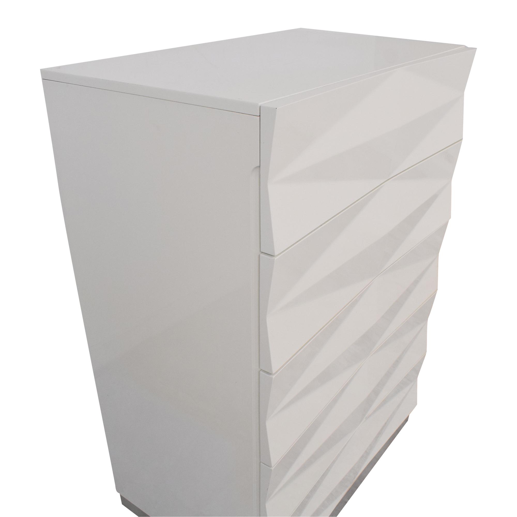 Modern Style Textured Vertical Dresser / Dressers