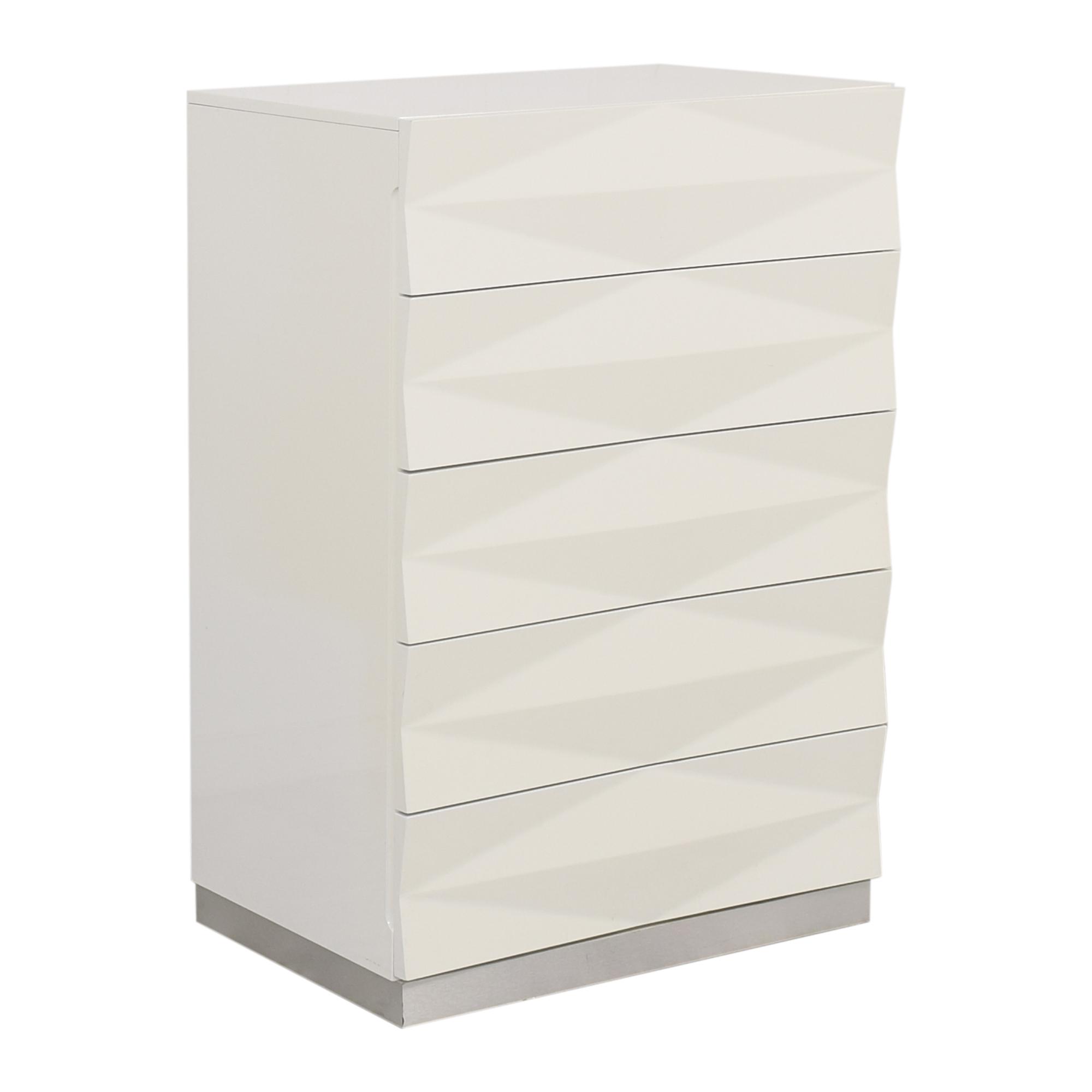 Modern Style Textured Vertical Dresser nj