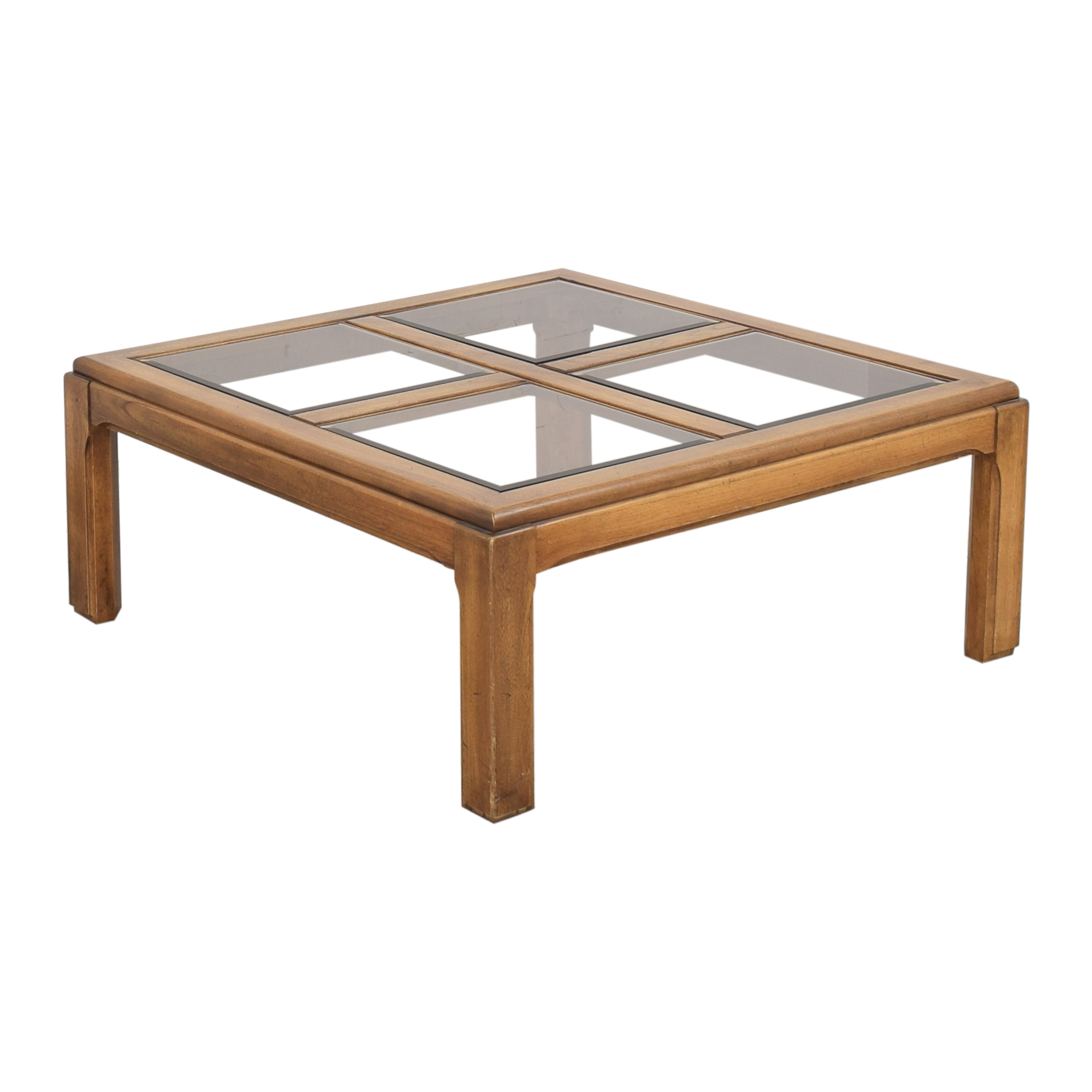 Lane Furniture Lane Furniture Glass Grid Coffee Table for sale