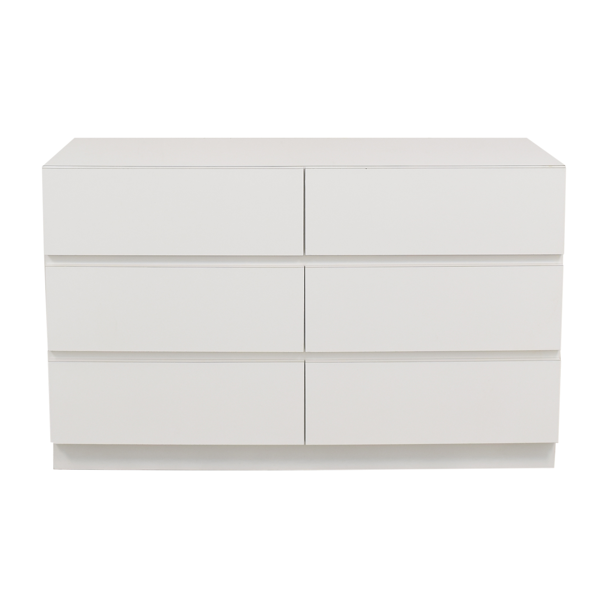 Modern Six Drawer Dresser white