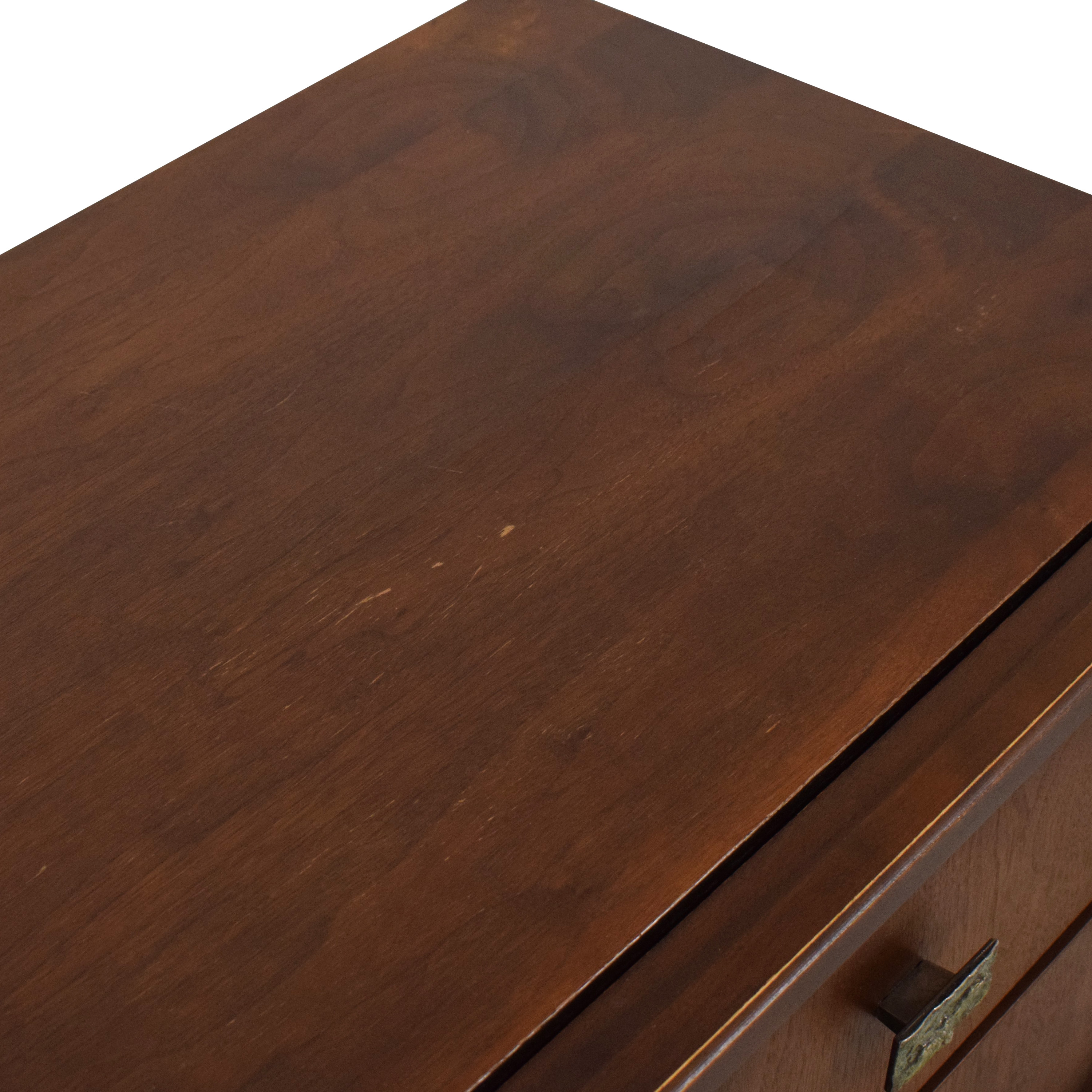 Canadian Brutalist Mid-Century Style Nightstand second hand