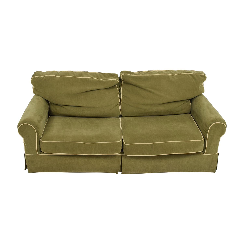 shop Raymour & Flanigan Green Sofa Raymour & Flanigan