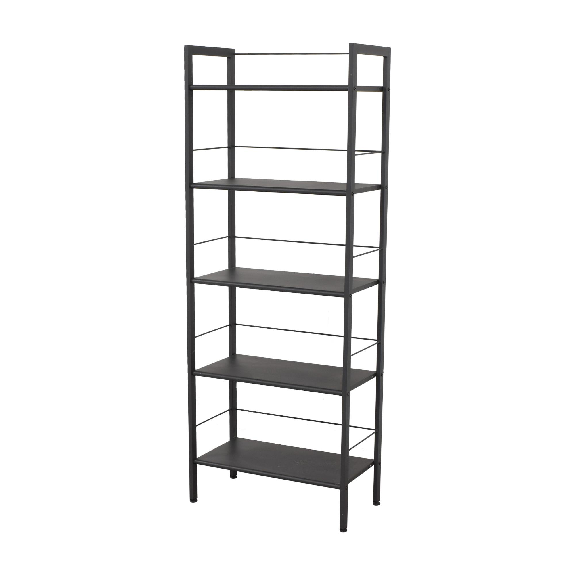 buy Crate & Barrel Pilsen Graphite Bookcase Crate & Barrel Storage