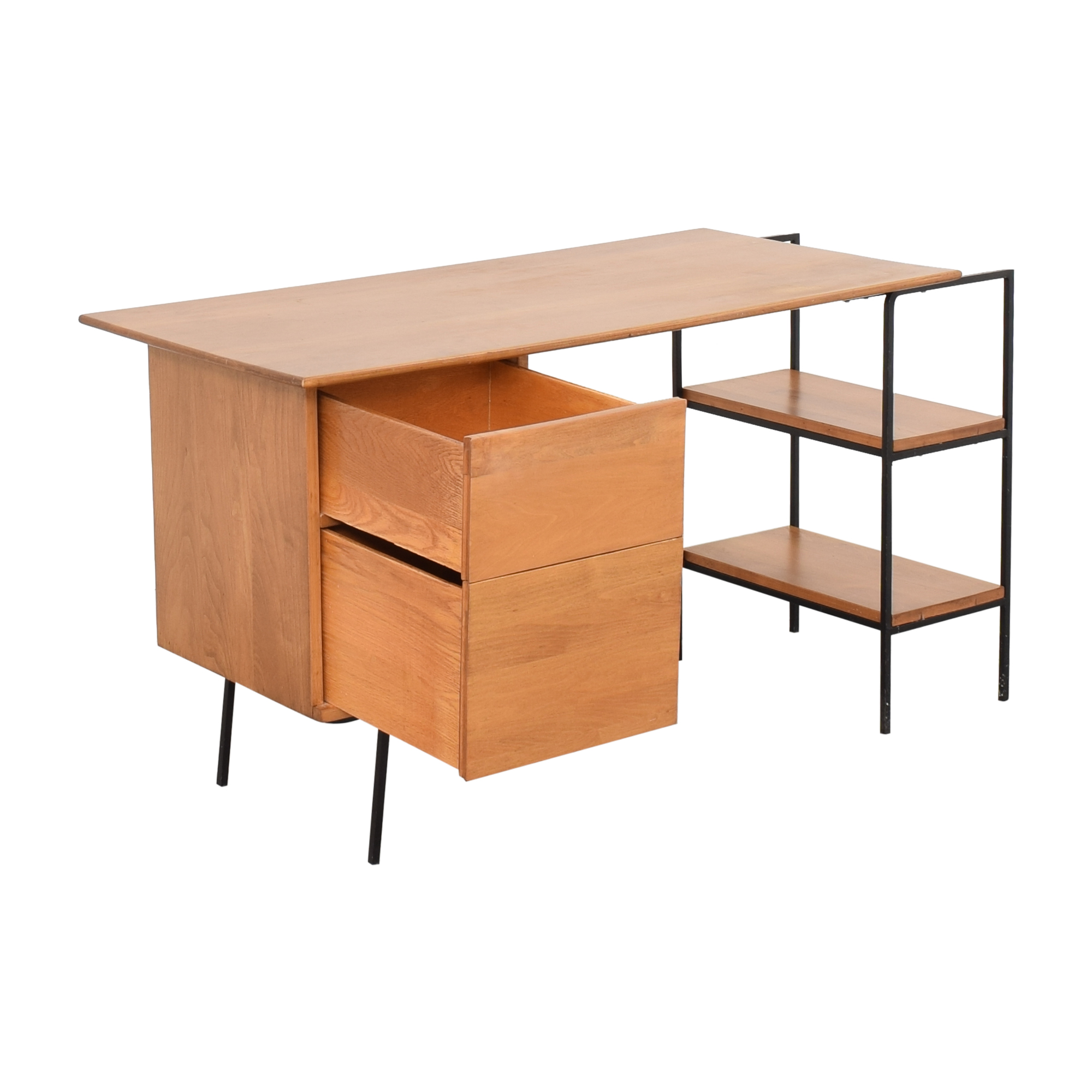 Mid Century Office Desk brown