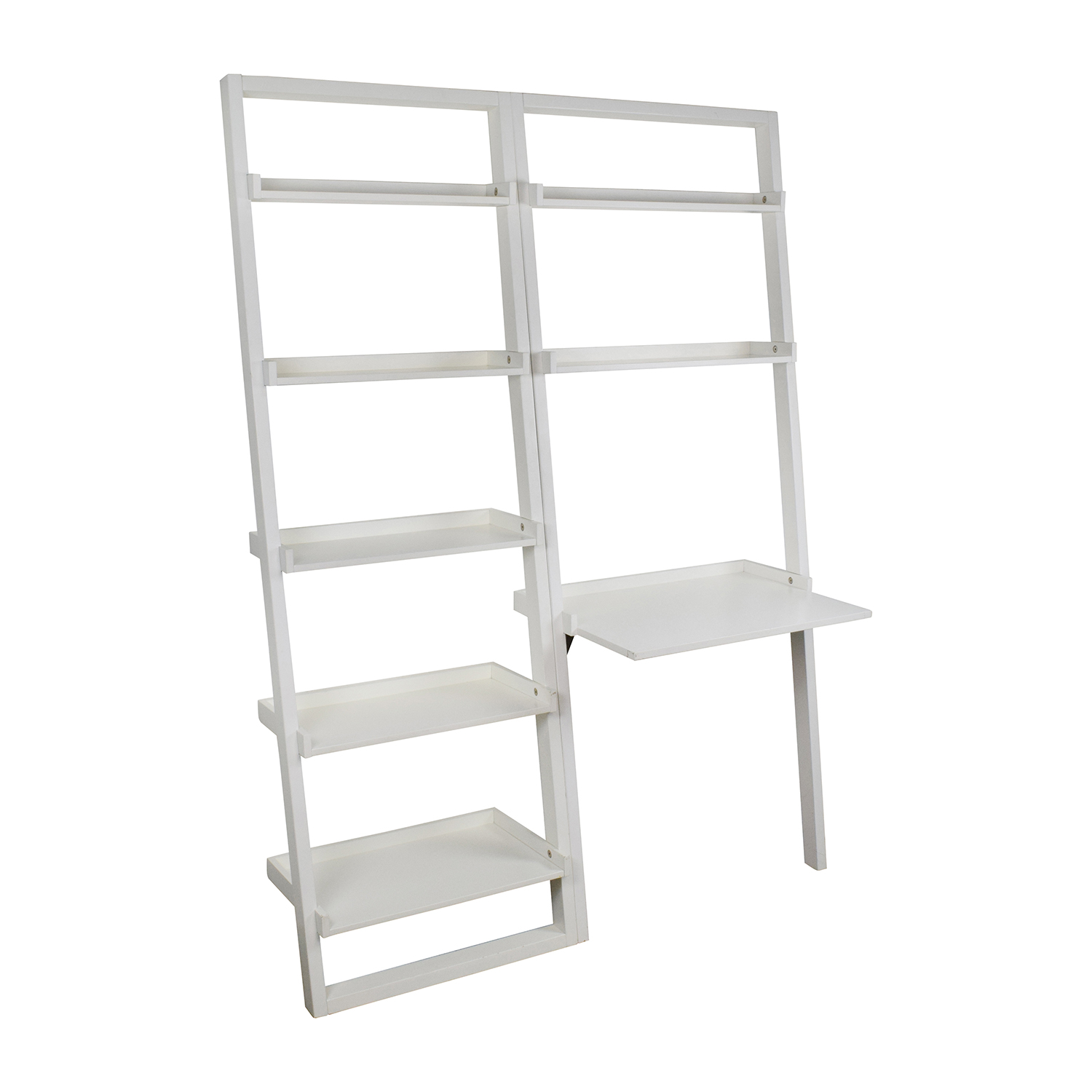 Crate and Barrel Leaning Bookcase and Desk on sale