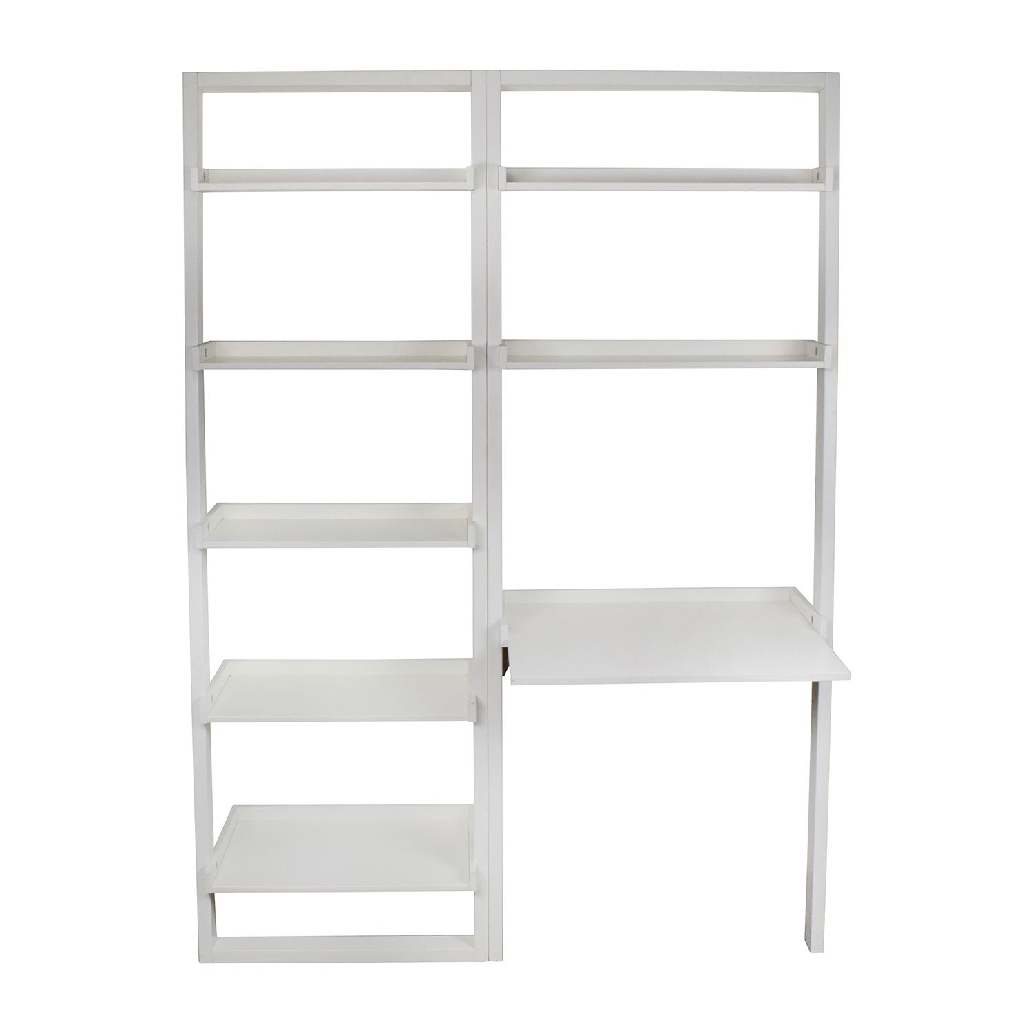 buy Leaning Bookcase and Desk Crate and Barrel