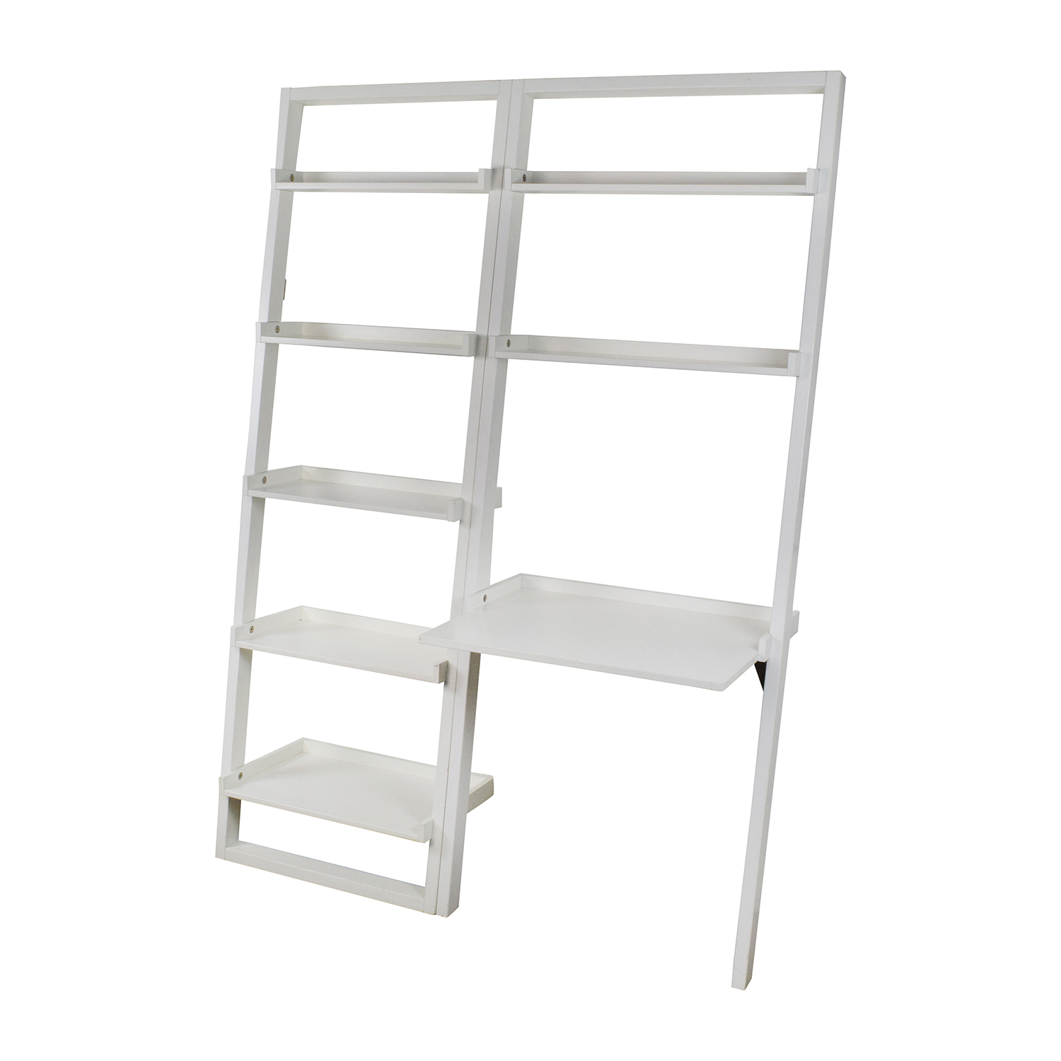 Crate And Barrel Leaning Bookcase And Desk / Storage