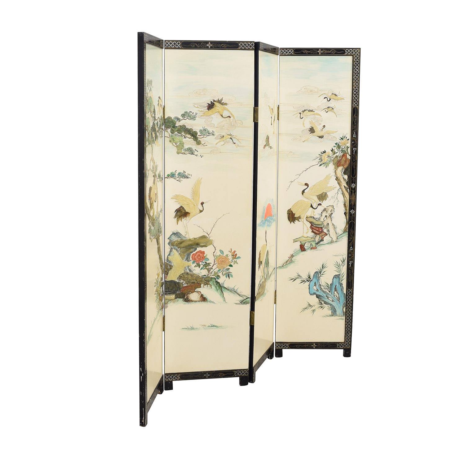Chinese Style Panel Screen Divider Decor