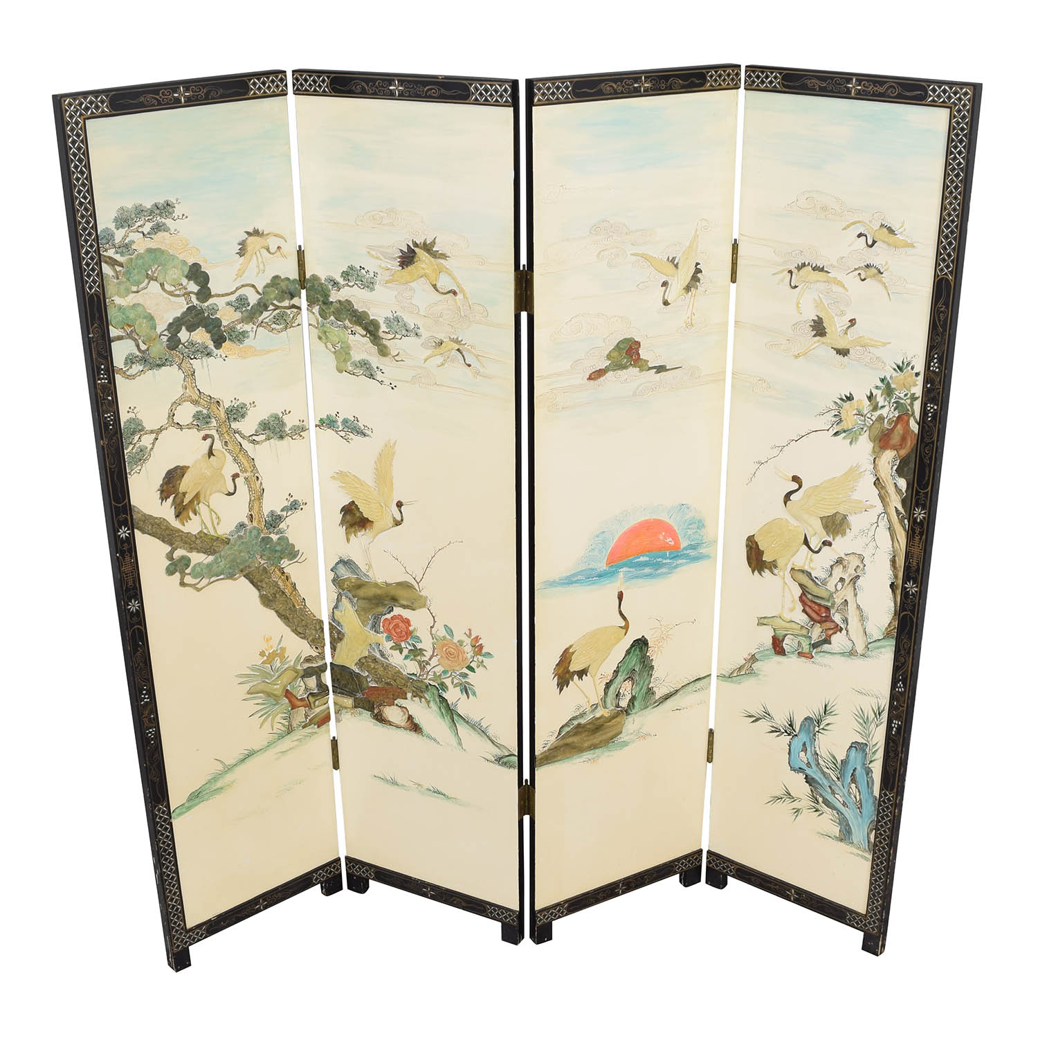Chinese Style Panel Screen Divider / Decor