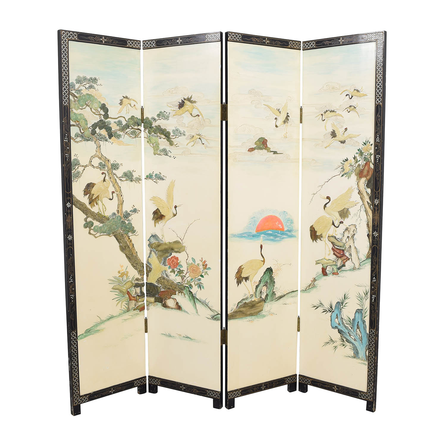 Chinese Style Panel Screen Divider sale