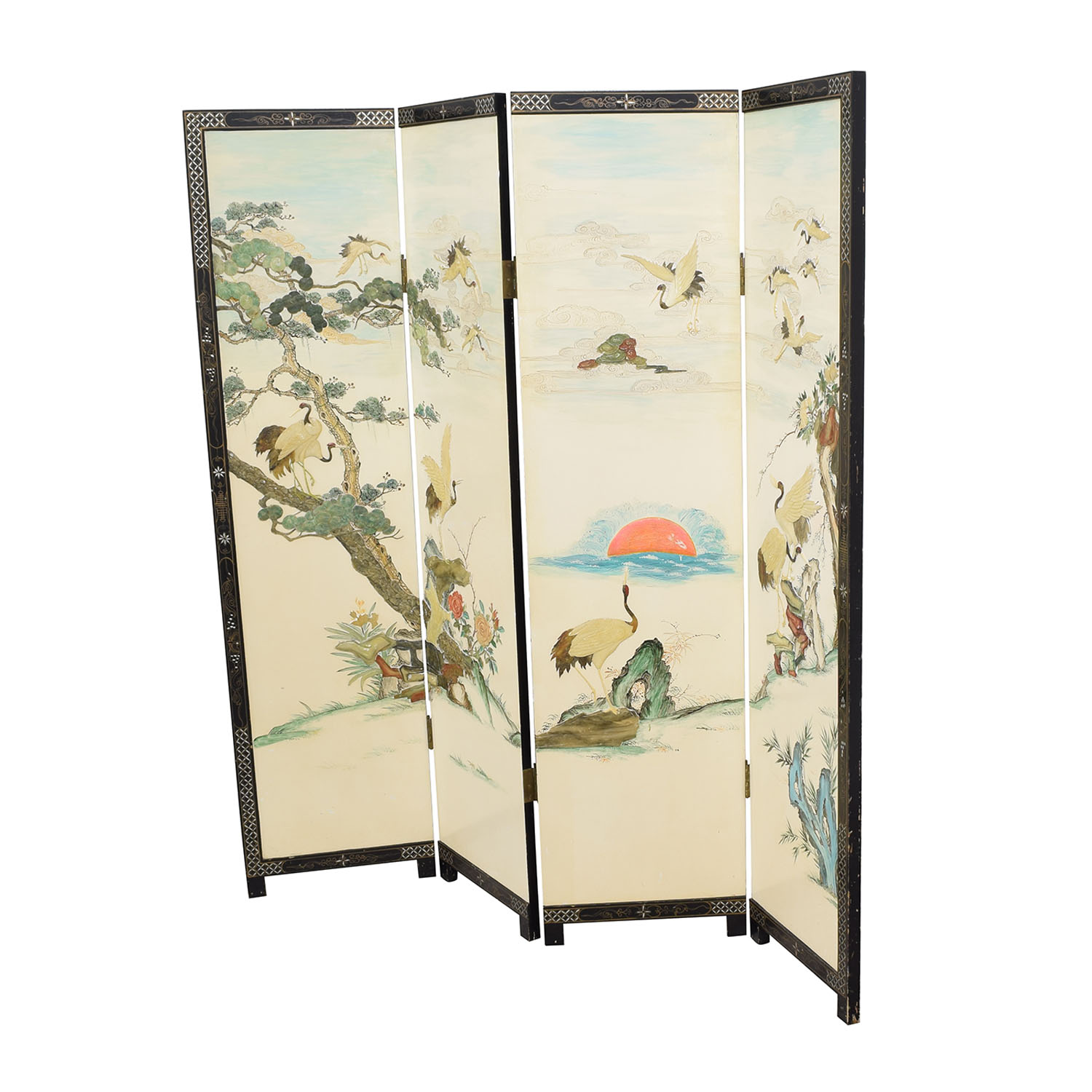 Chinese Style Panel Screen Divider ct
