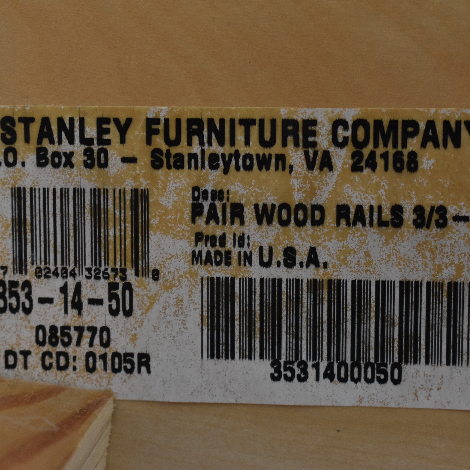Stanley Furniture Stanley Furniture Twin Sleigh Bed on sale