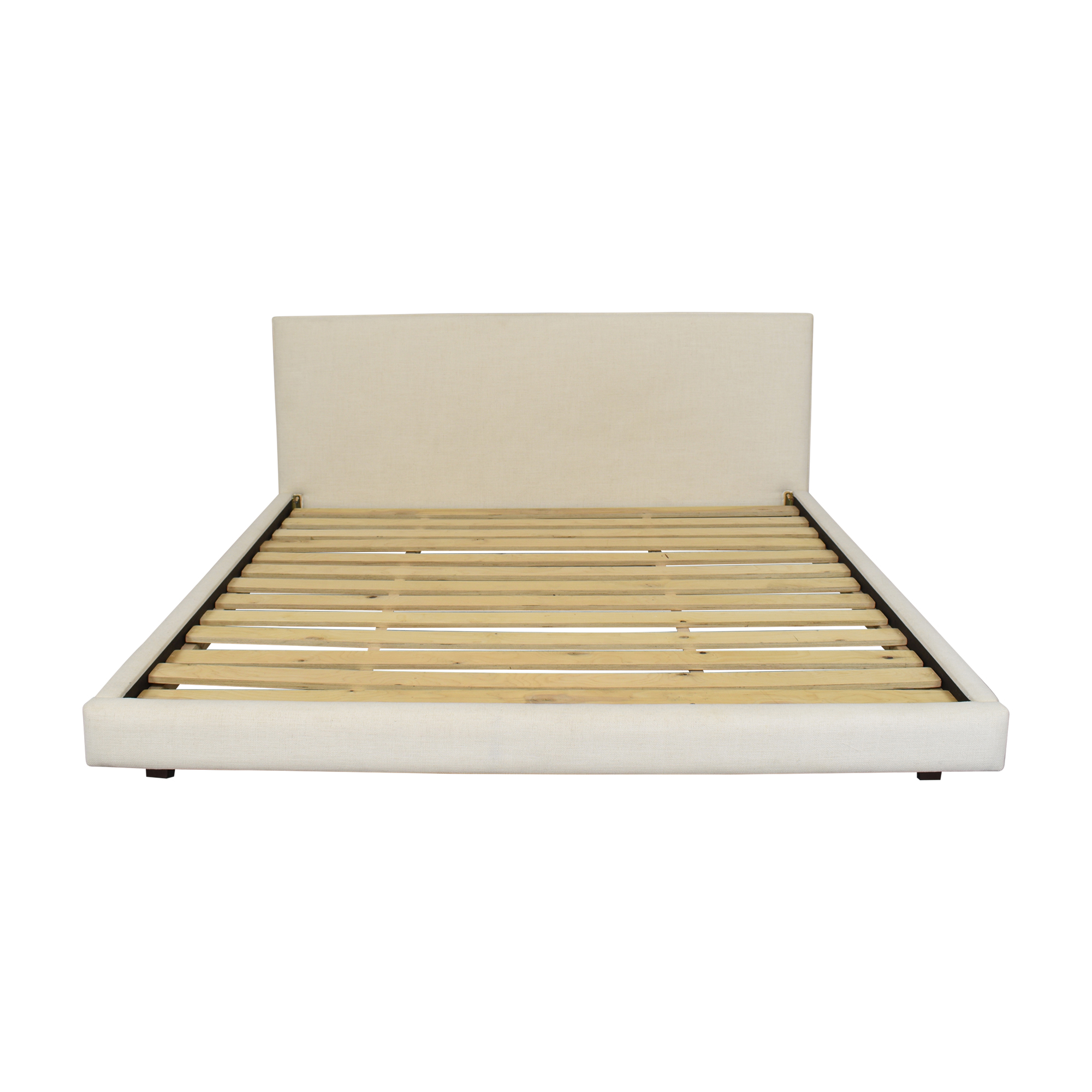 buy CB2 Facade Snow King Bed CB2 Beds