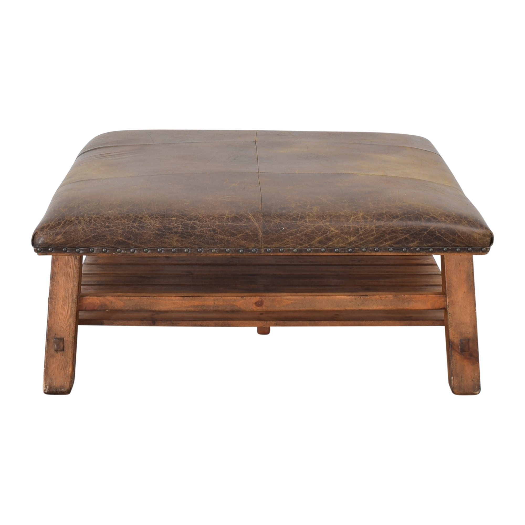 shop Pottery Barn Pottery Barn Caden Square Ottoman or Coffee Table online